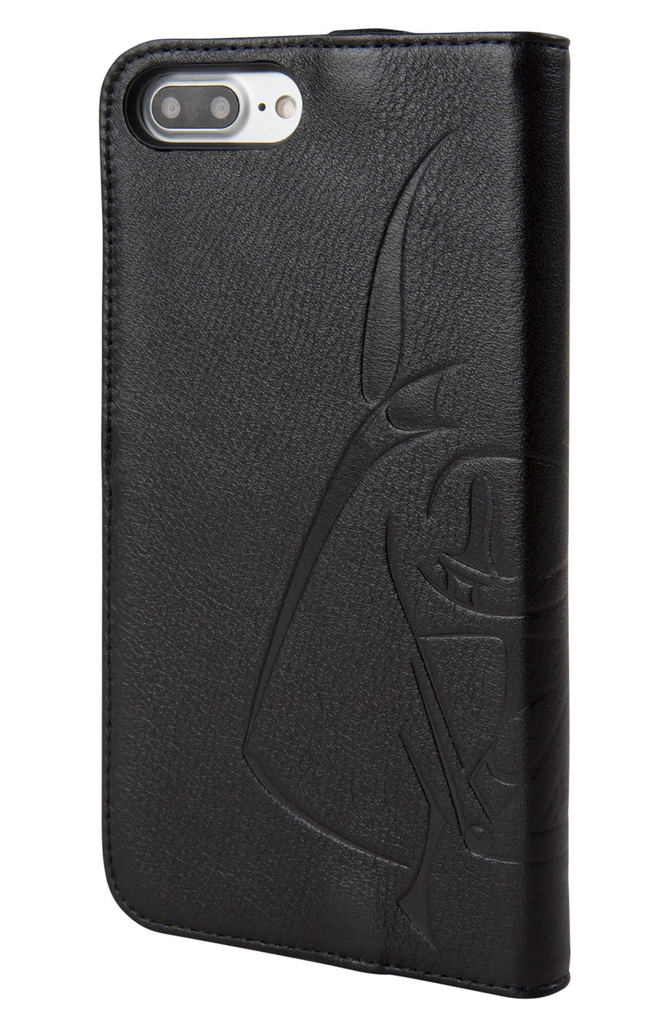 Darth Vader iPhone 8 Plus Wallet Case,                             Alternate thumbnail 3, color,                             Black