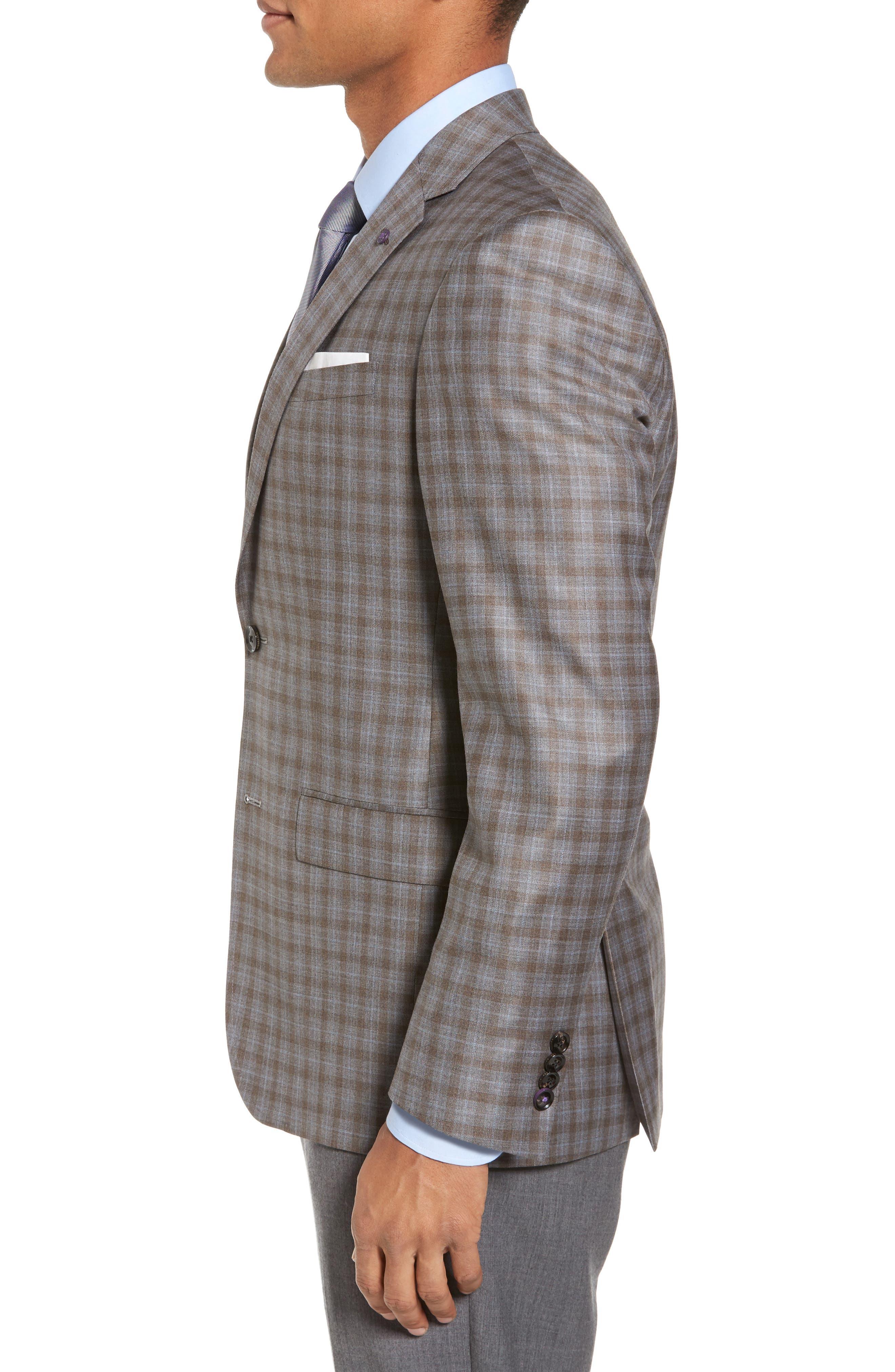 Alternate Image 3  - Ted Baker London Jay Trim Fit Plaid Wool Sport Coat