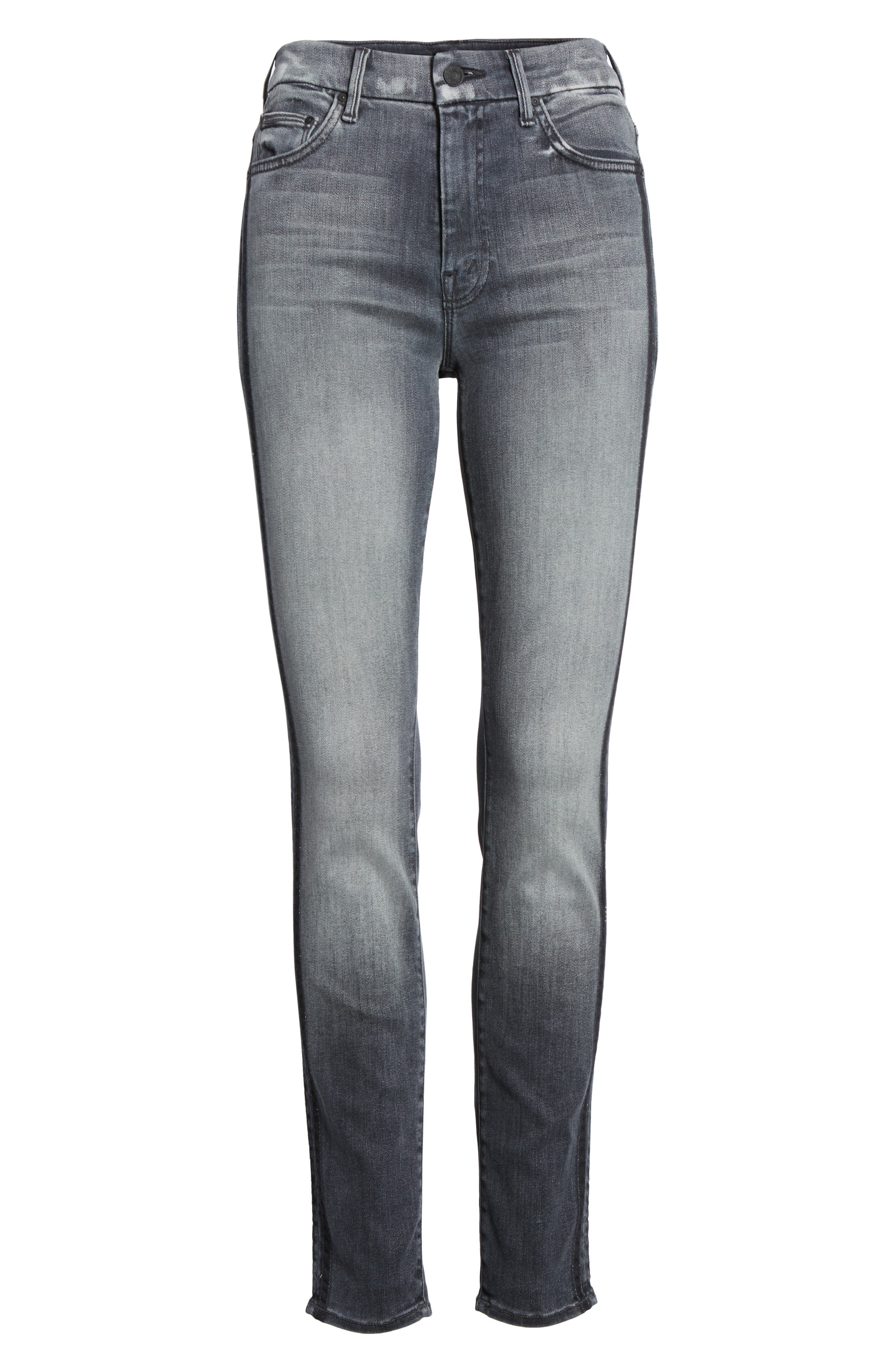 The Looker High Waist Skinny Jeans,                             Alternate thumbnail 7, color,                             Miss Moody Two Shoes Racer
