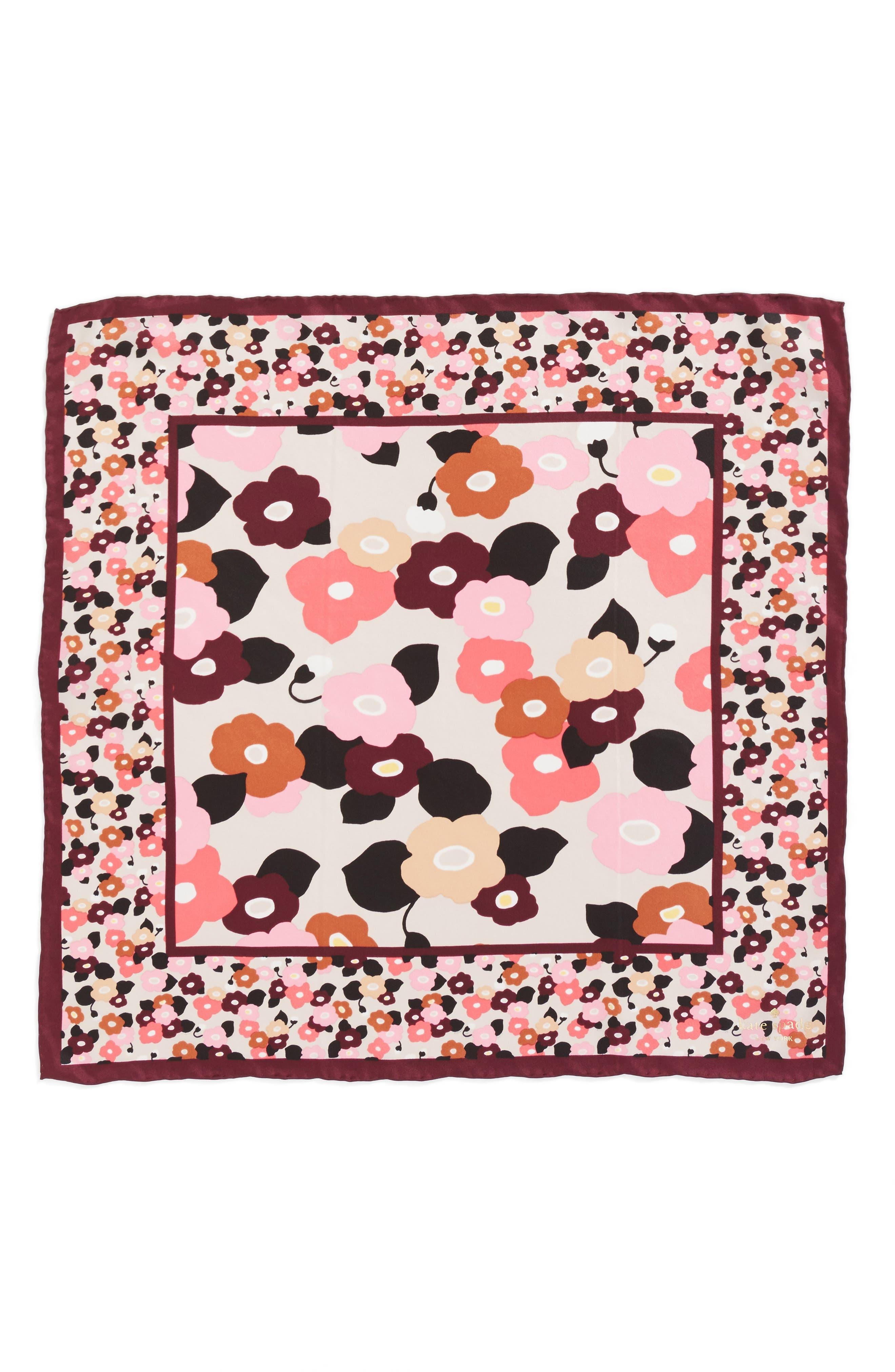 blooming silk bandana,                             Alternate thumbnail 2, color,                             Rose Dew
