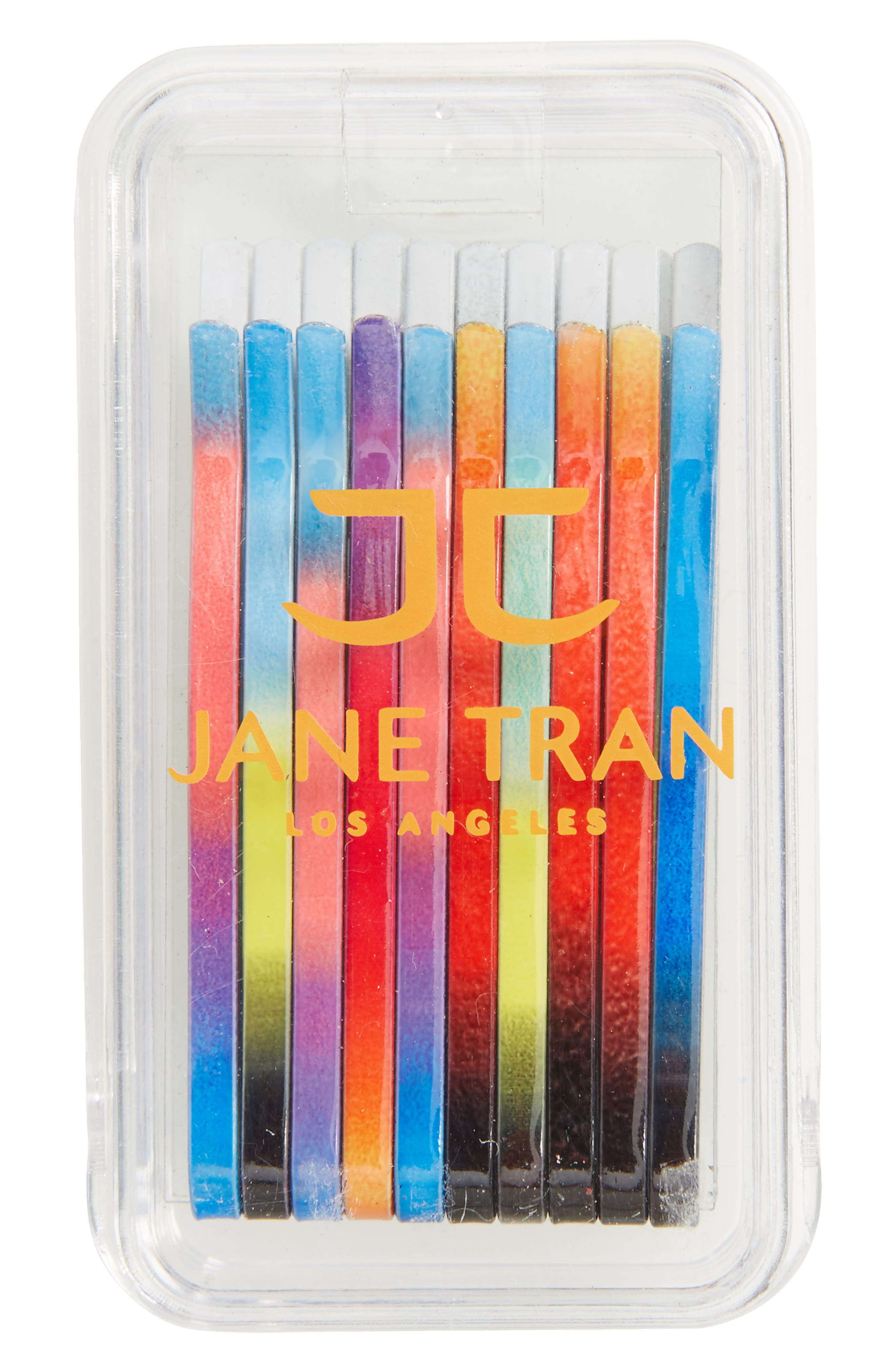 Ombré Print Set of 20 Assorted Bobby Pins,                         Main,                         color, Multi