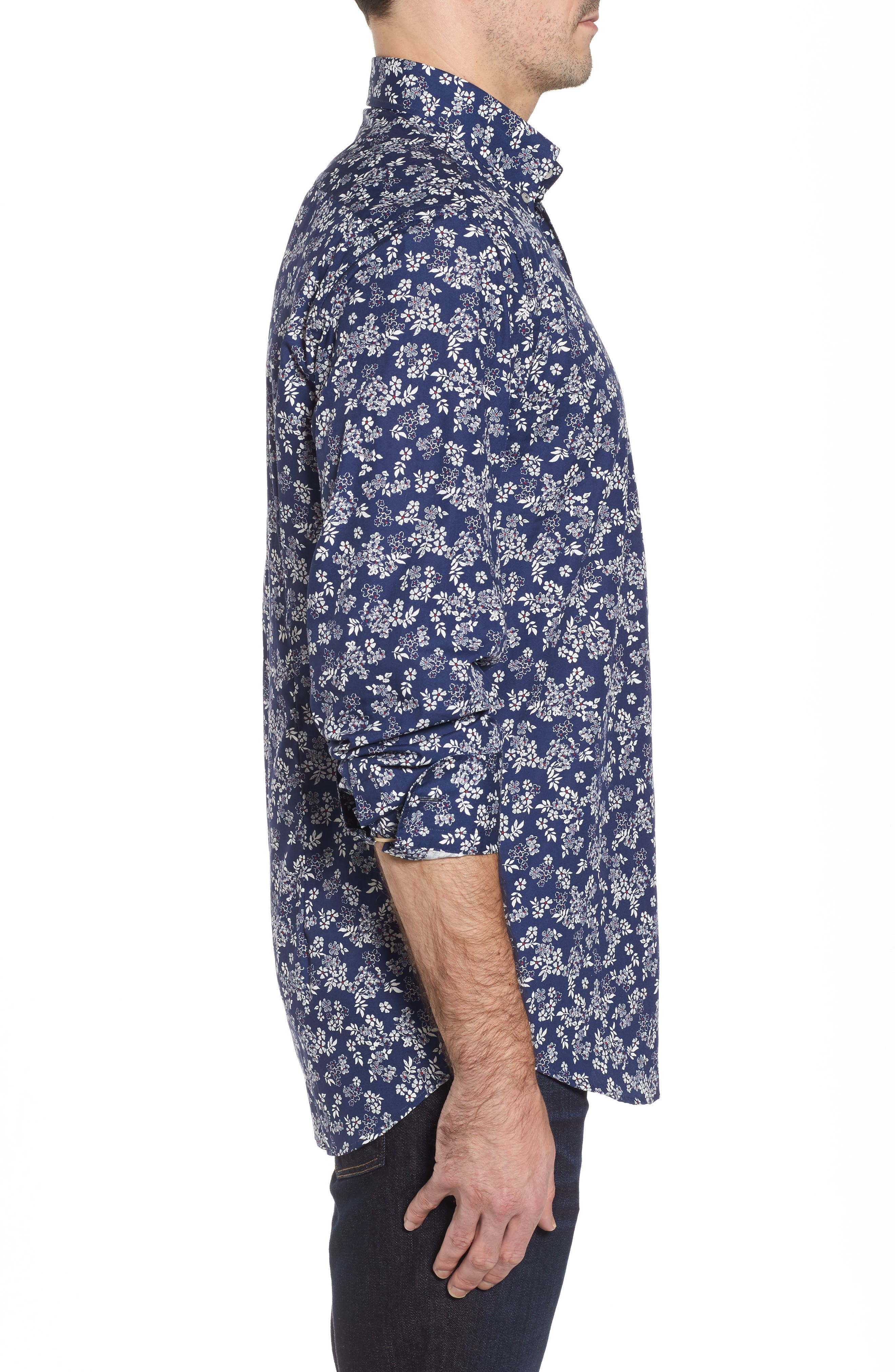 Alternate Image 3  - Paul & Shark Regular Fit Flower Print Sport Shirt