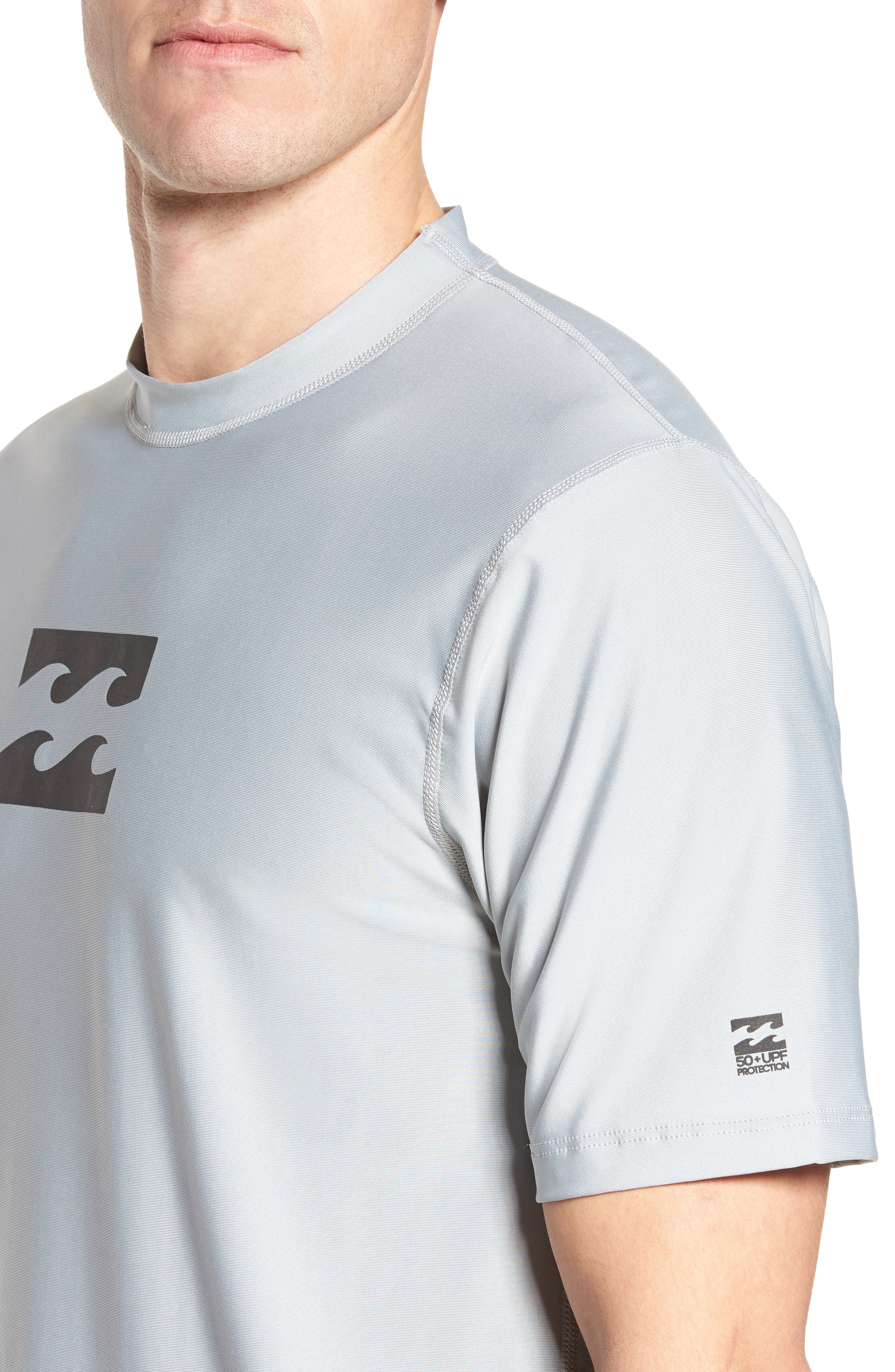 All Day Wave Wet Shirt,                             Alternate thumbnail 4, color,                             Silver