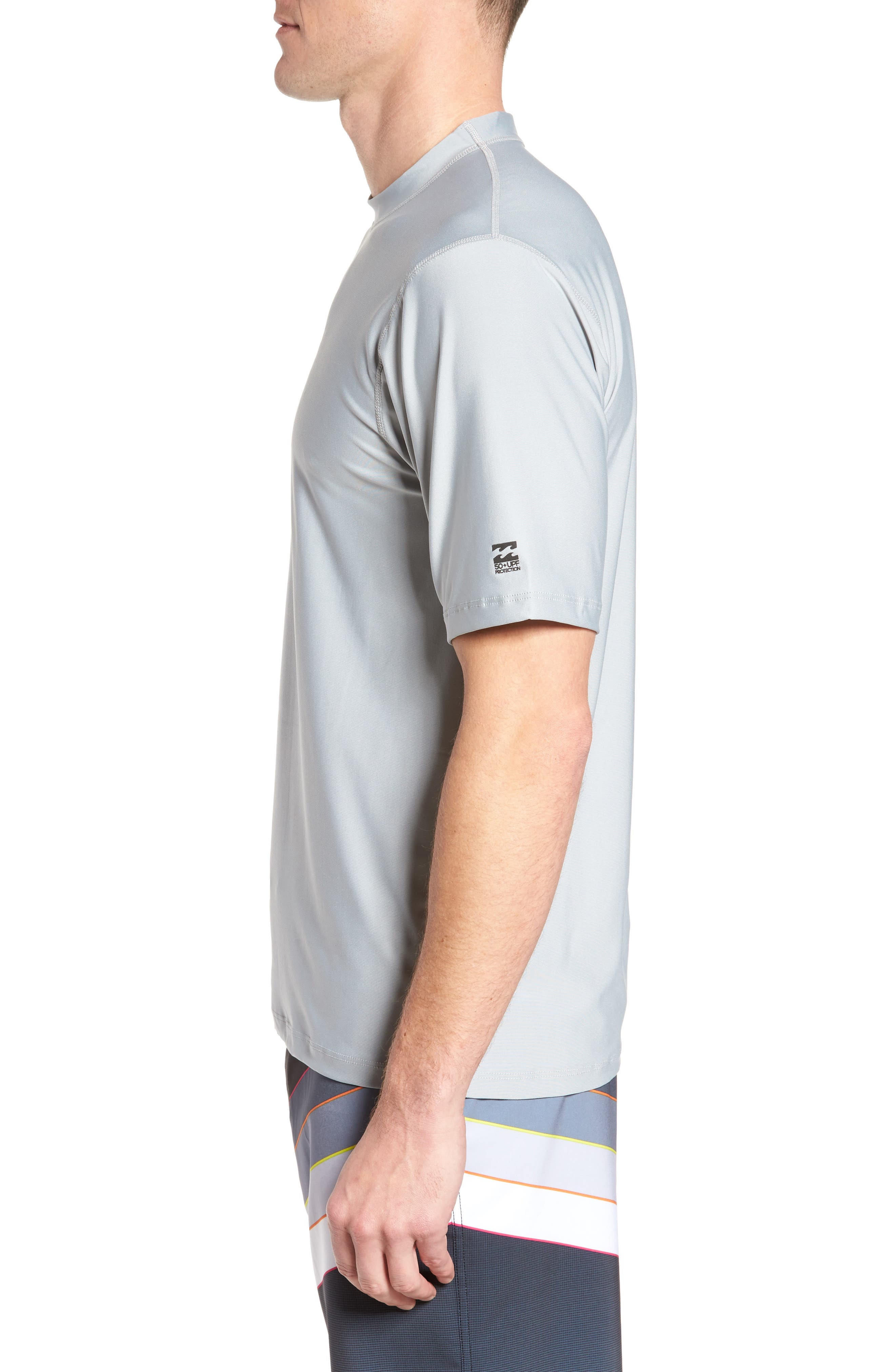 All Day Wave Wet Shirt,                             Alternate thumbnail 3, color,                             Silver