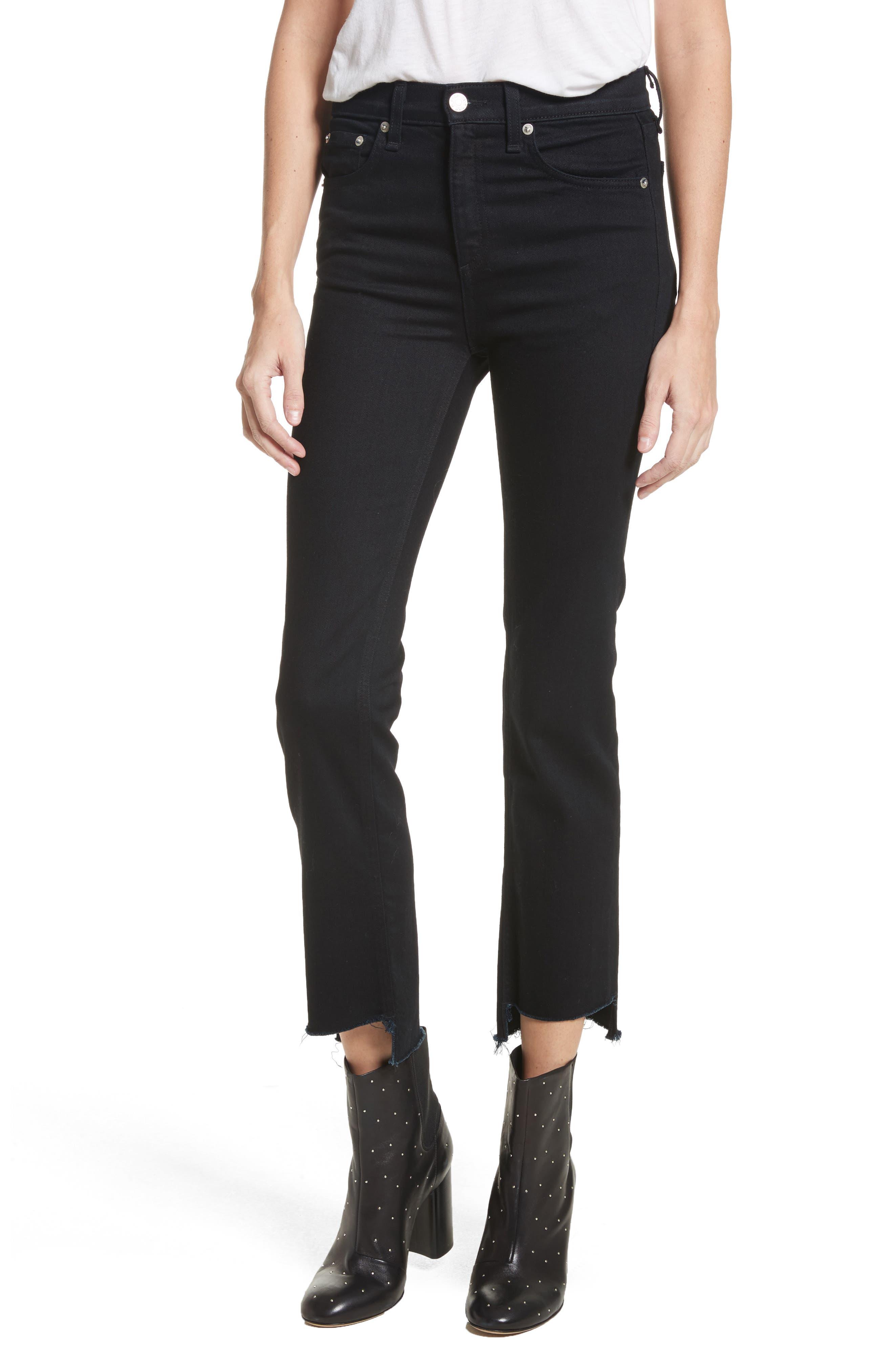 rag & bone/JEAN High Waist Stovepipe Jeans (Byan)