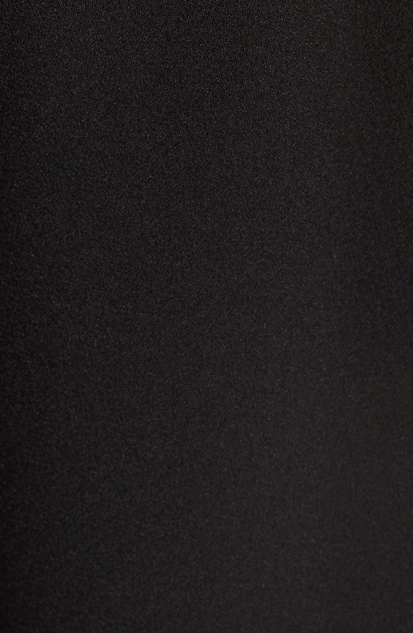 Embellished Ruffle Jumpsuit,                             Alternate thumbnail 5, color,                             Black