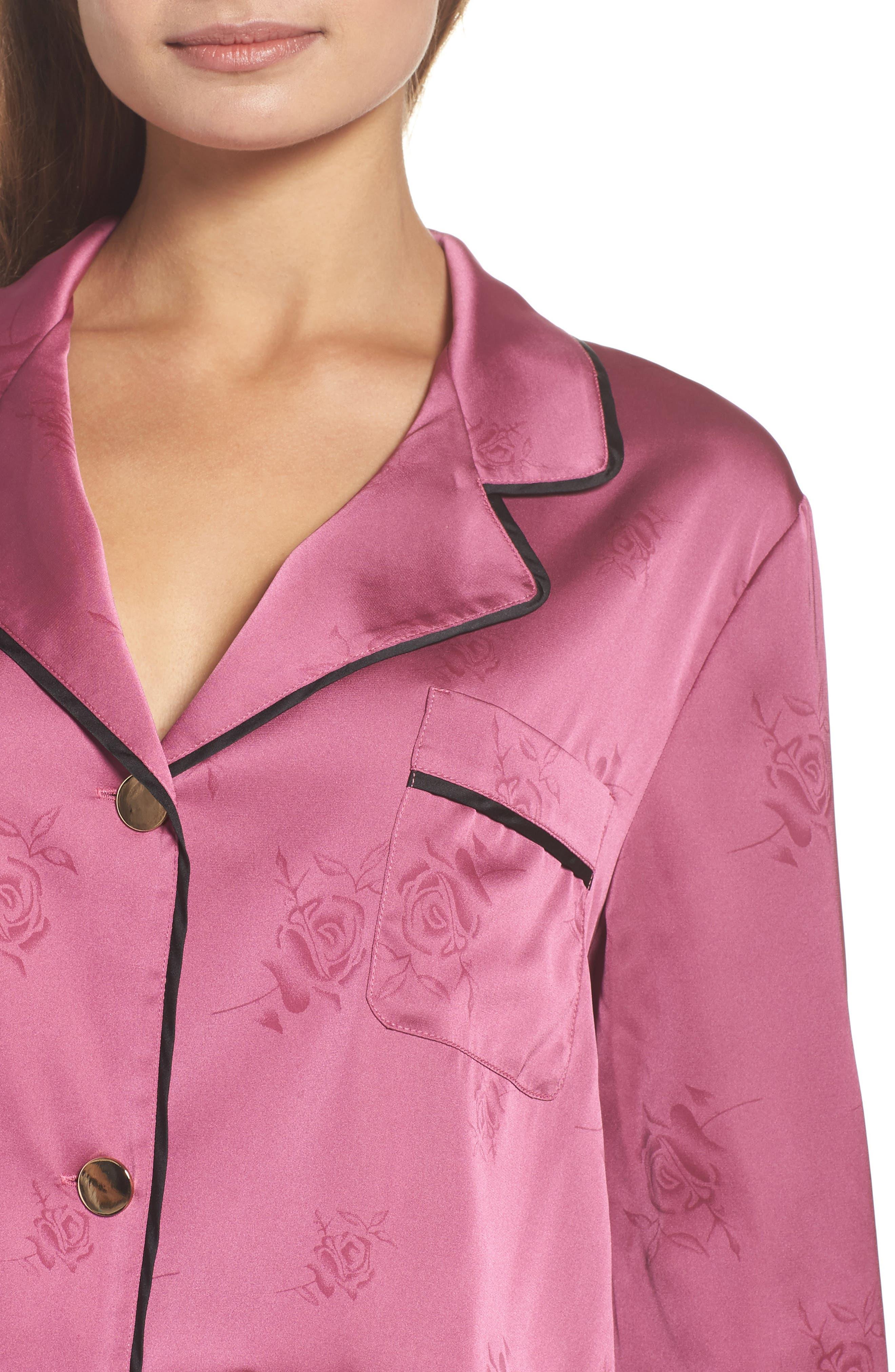 Crop Pajamas,                             Alternate thumbnail 5, color,                             Raspberry