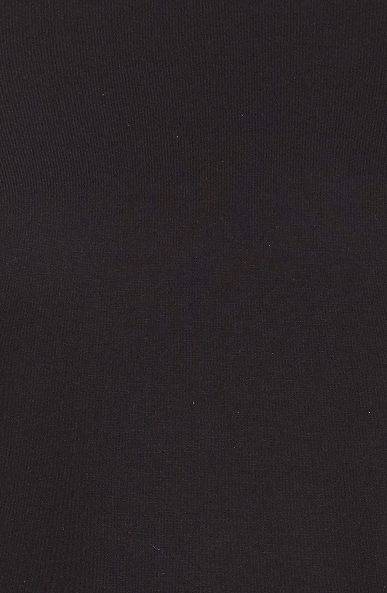 Alternate Image 5  - Sejour Gingham Ruffle Sleeve Tee (Plus Size)