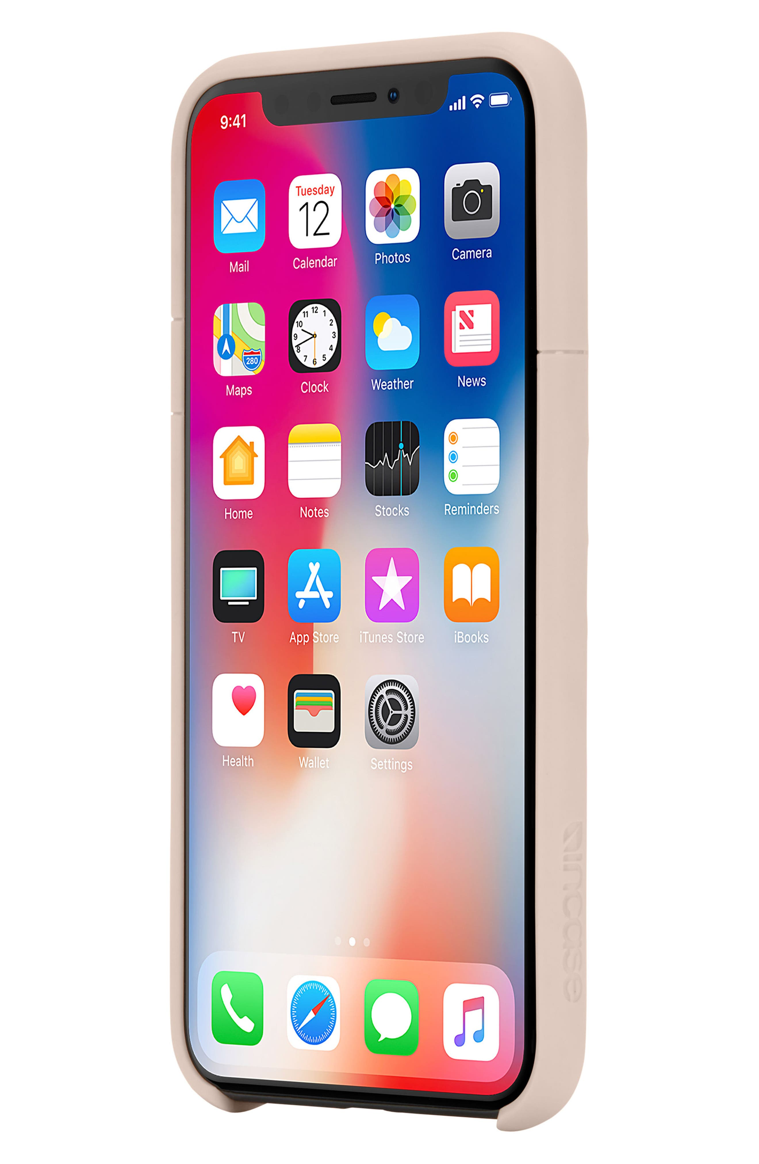 Lite iPhone iPhone X Case,                             Alternate thumbnail 6, color,                             Rose Gold