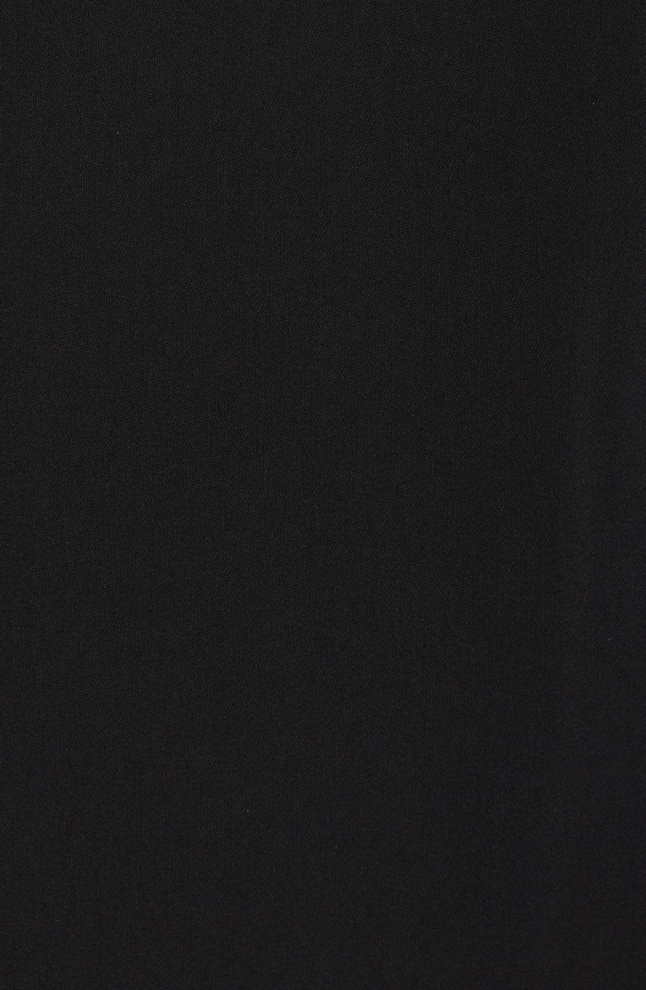 Sherryl Ruffle Sleeve Shift Dress,                             Alternate thumbnail 5, color,                             Black