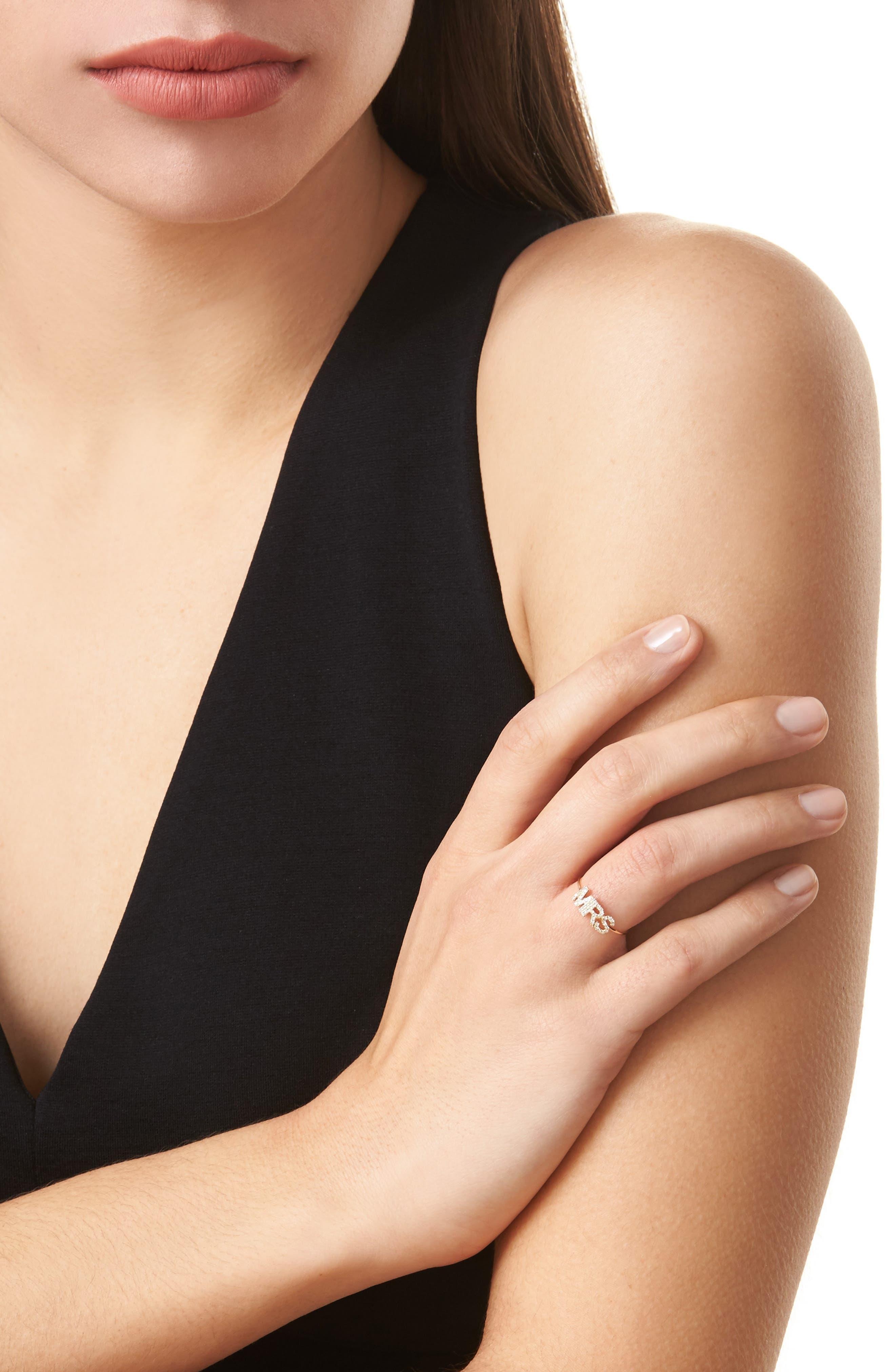 Alternate Image 2  - EF COLLECTION Mrs. Diamond Ring