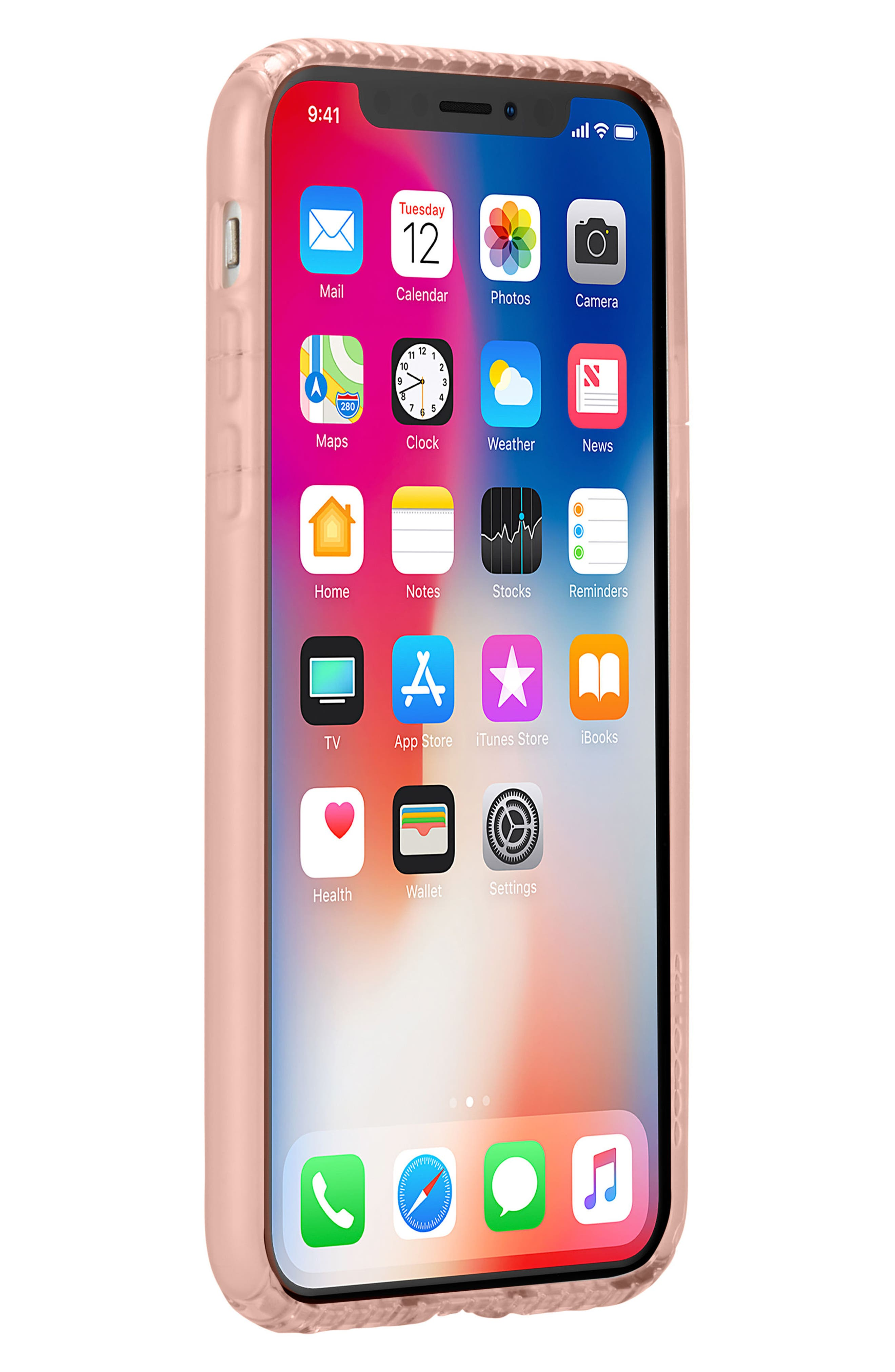 Protective iPhone X Case,                             Alternate thumbnail 8, color,                             Rose Gold