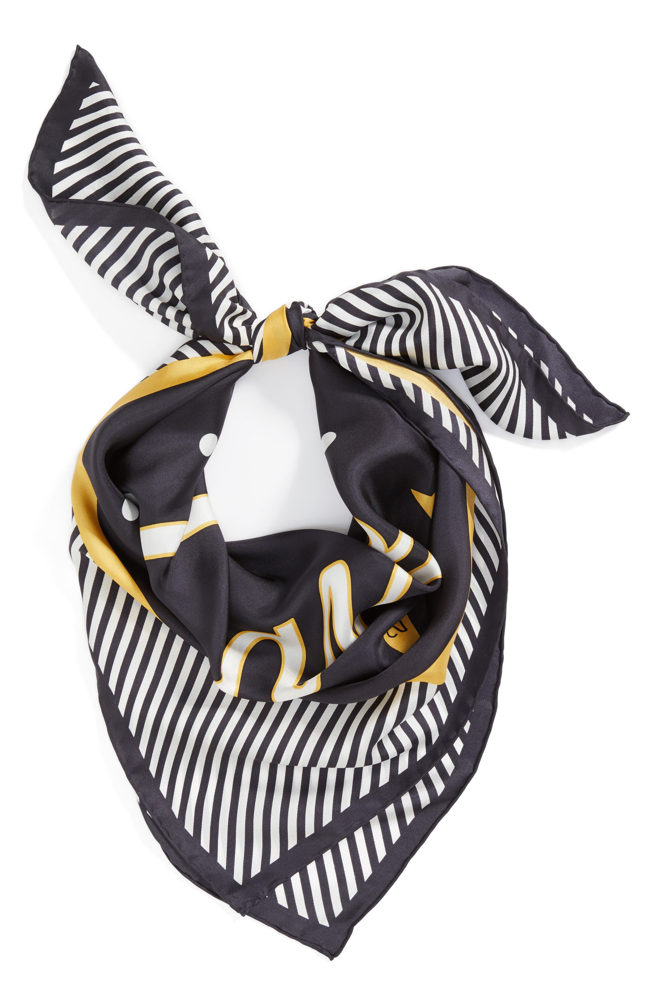 Alternate Image 3  - kate spade new york caviar silk square scarf