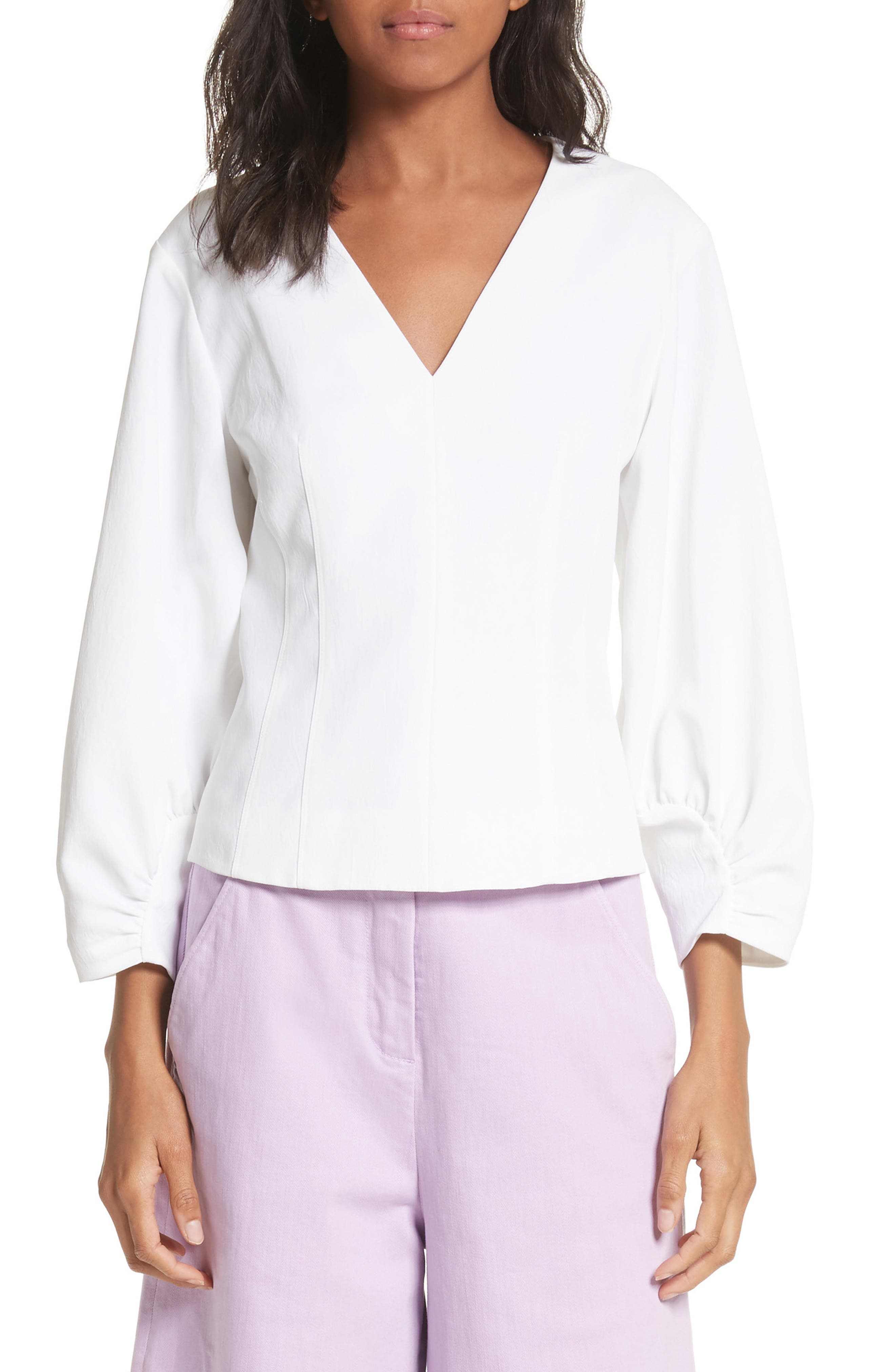 Alternate Image 1 Selected - Tibi Cinched Sleeve Top
