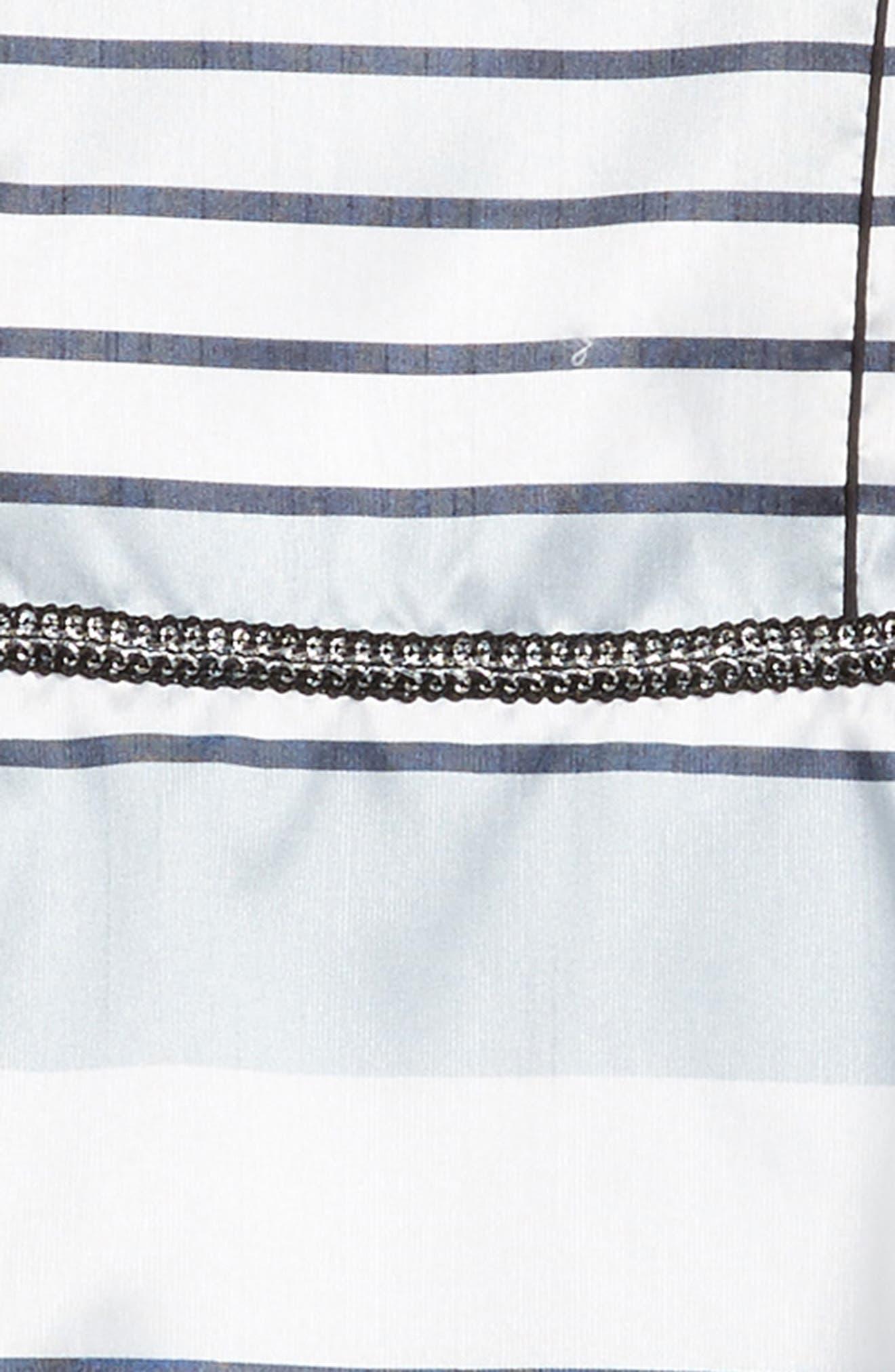 Stripe Dress,                             Alternate thumbnail 3, color,                             Silver Multi