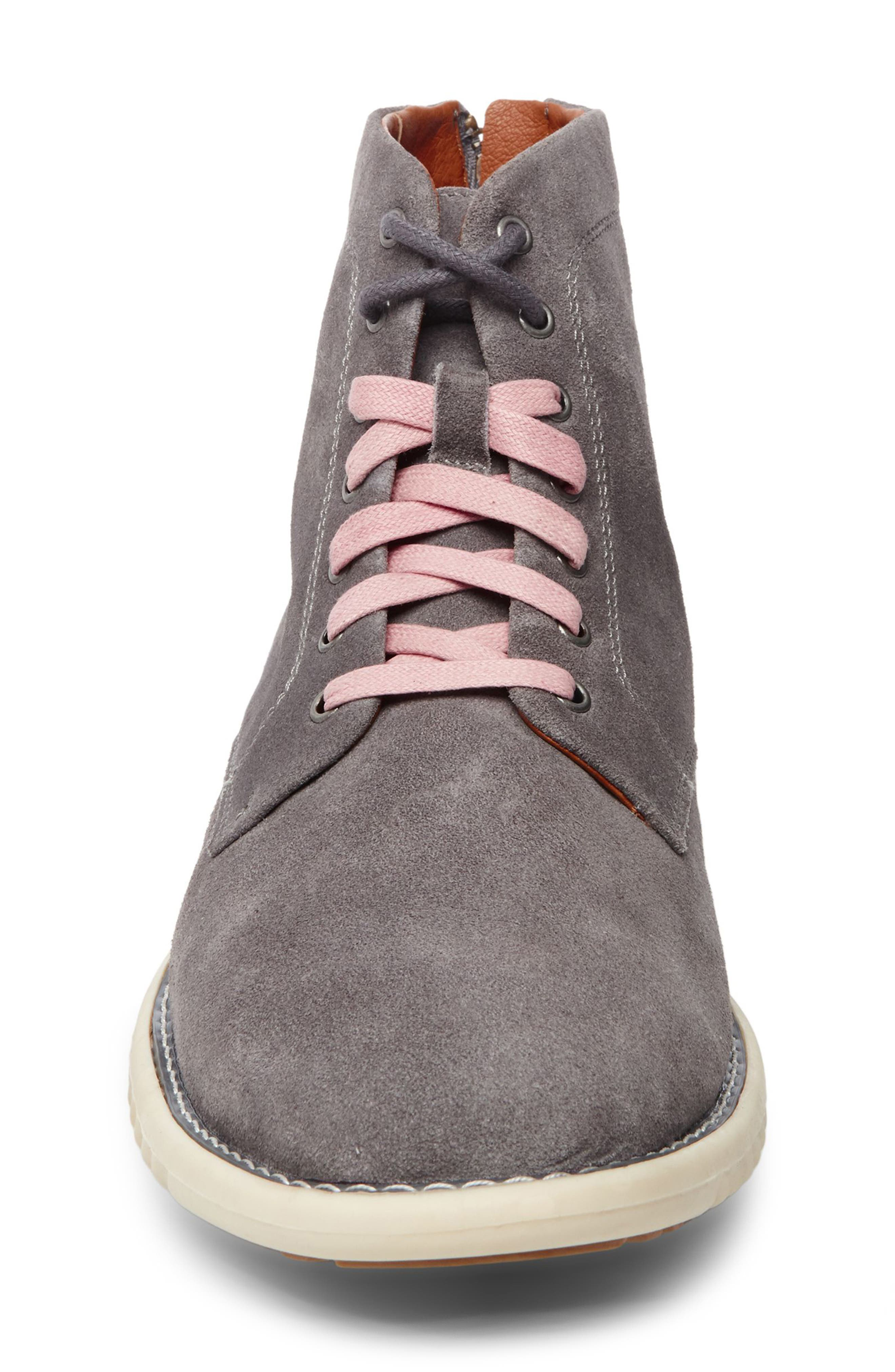 Verner Suede Plain Toe Boot,                             Alternate thumbnail 4, color,                             Dark Grey Suede
