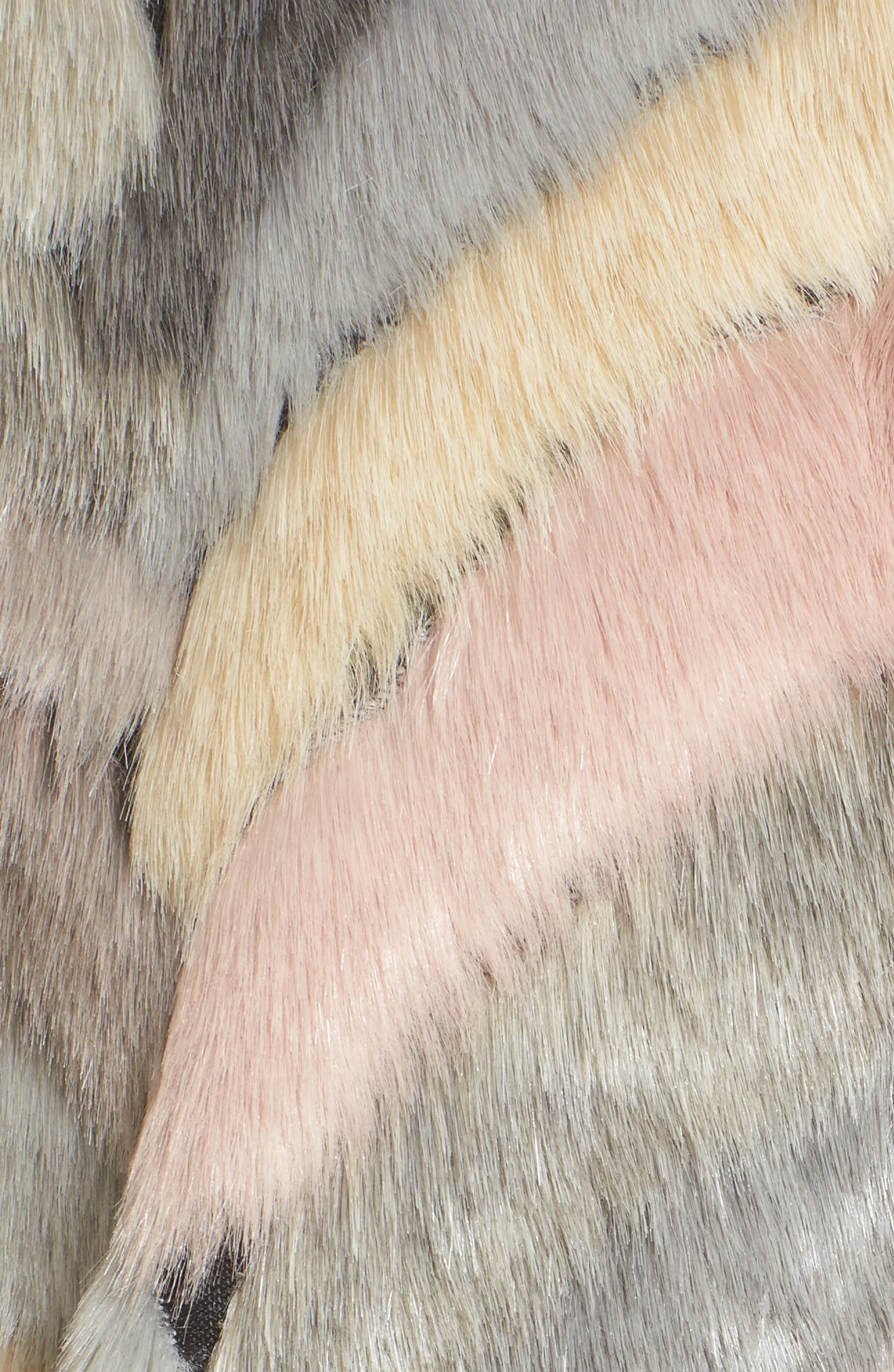Voila Faux Fur Jacket,                             Alternate thumbnail 5, color,                             Multi