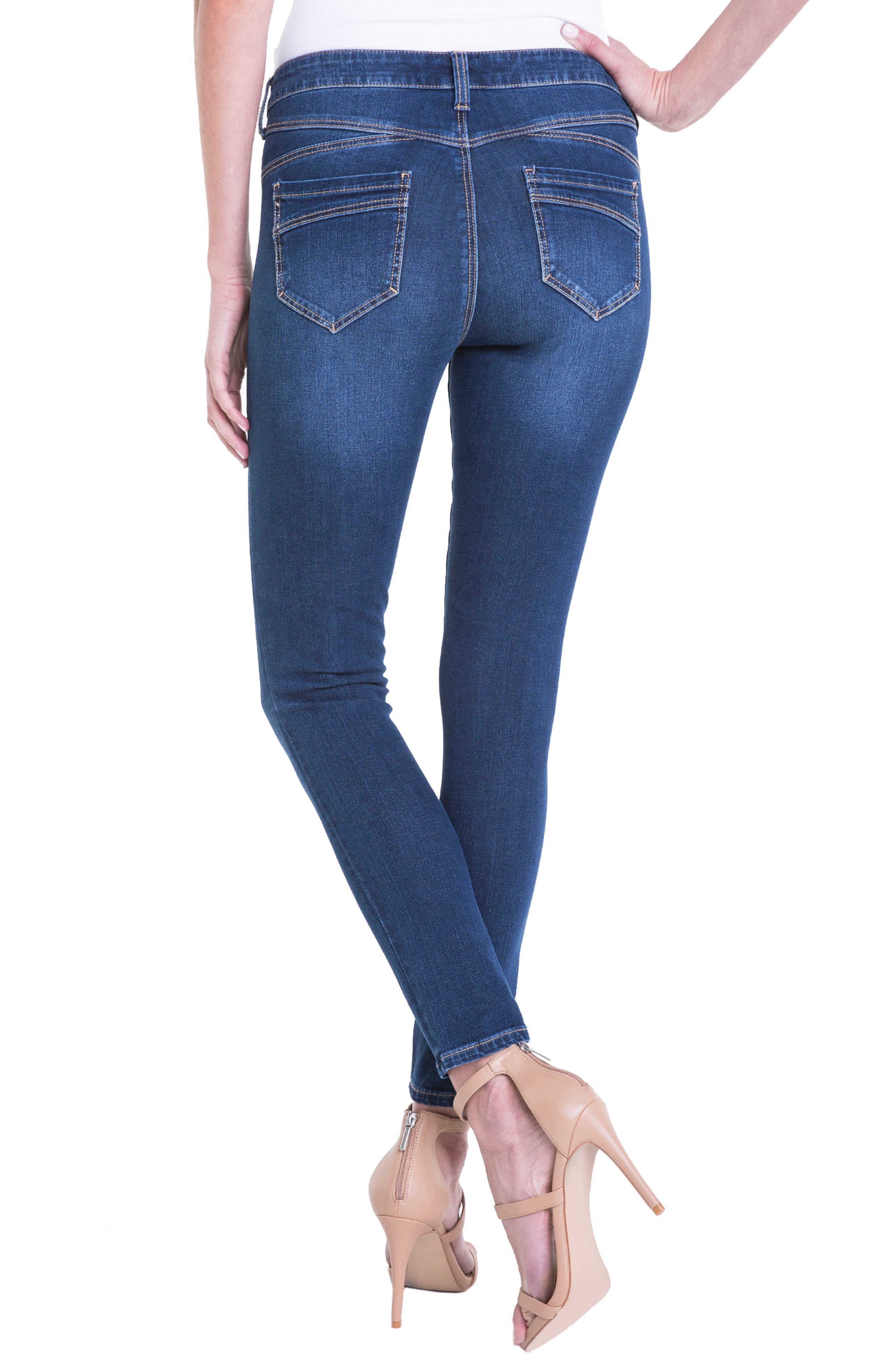 Jeans Company Piper Hugger Lift Sculpt Ankle Skinny Jeans,                             Alternate thumbnail 3, color,                             Lynx Wash
