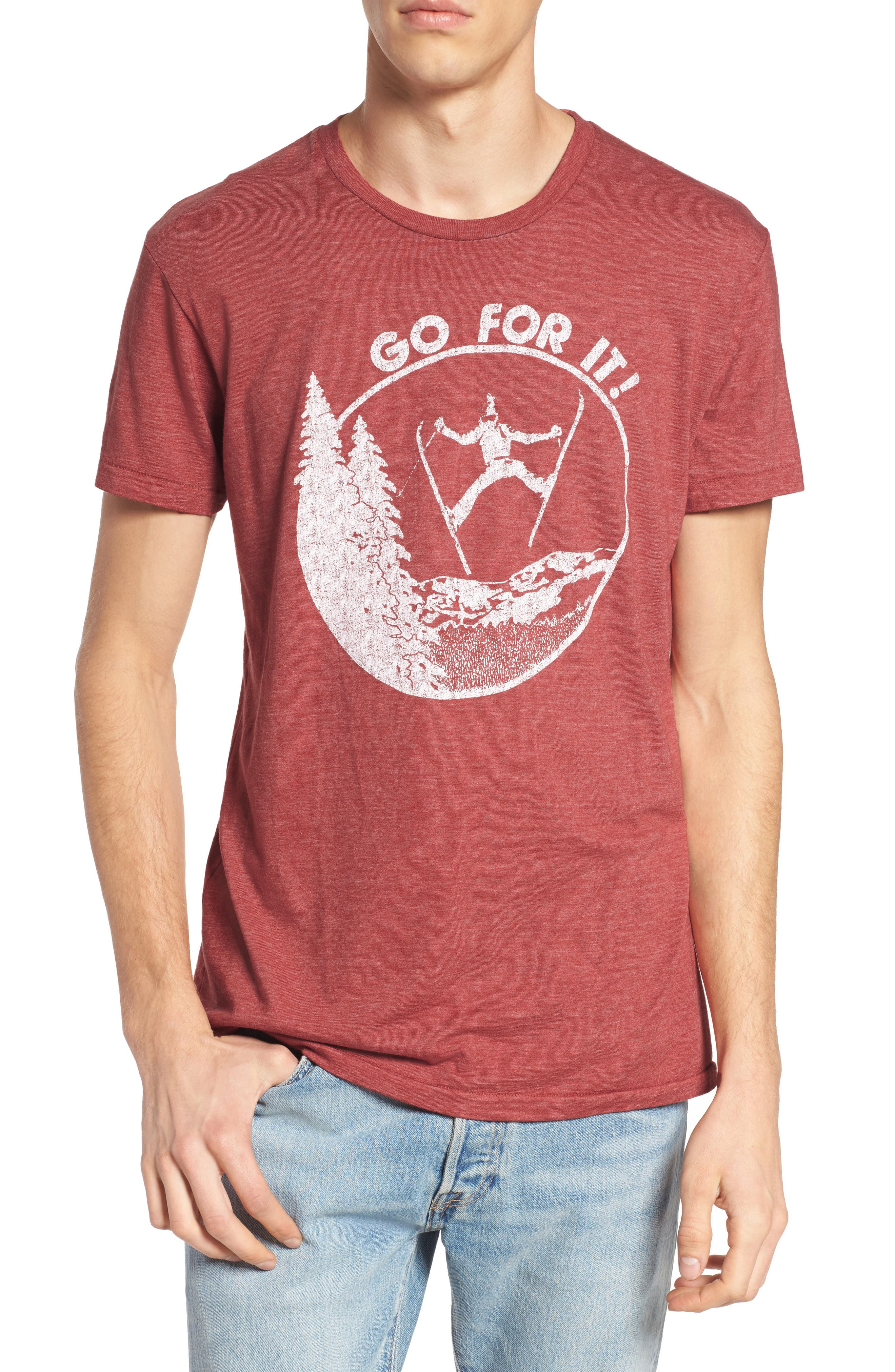 Go for It Graphic T-Shirt,                         Main,                         color, Cinnabar