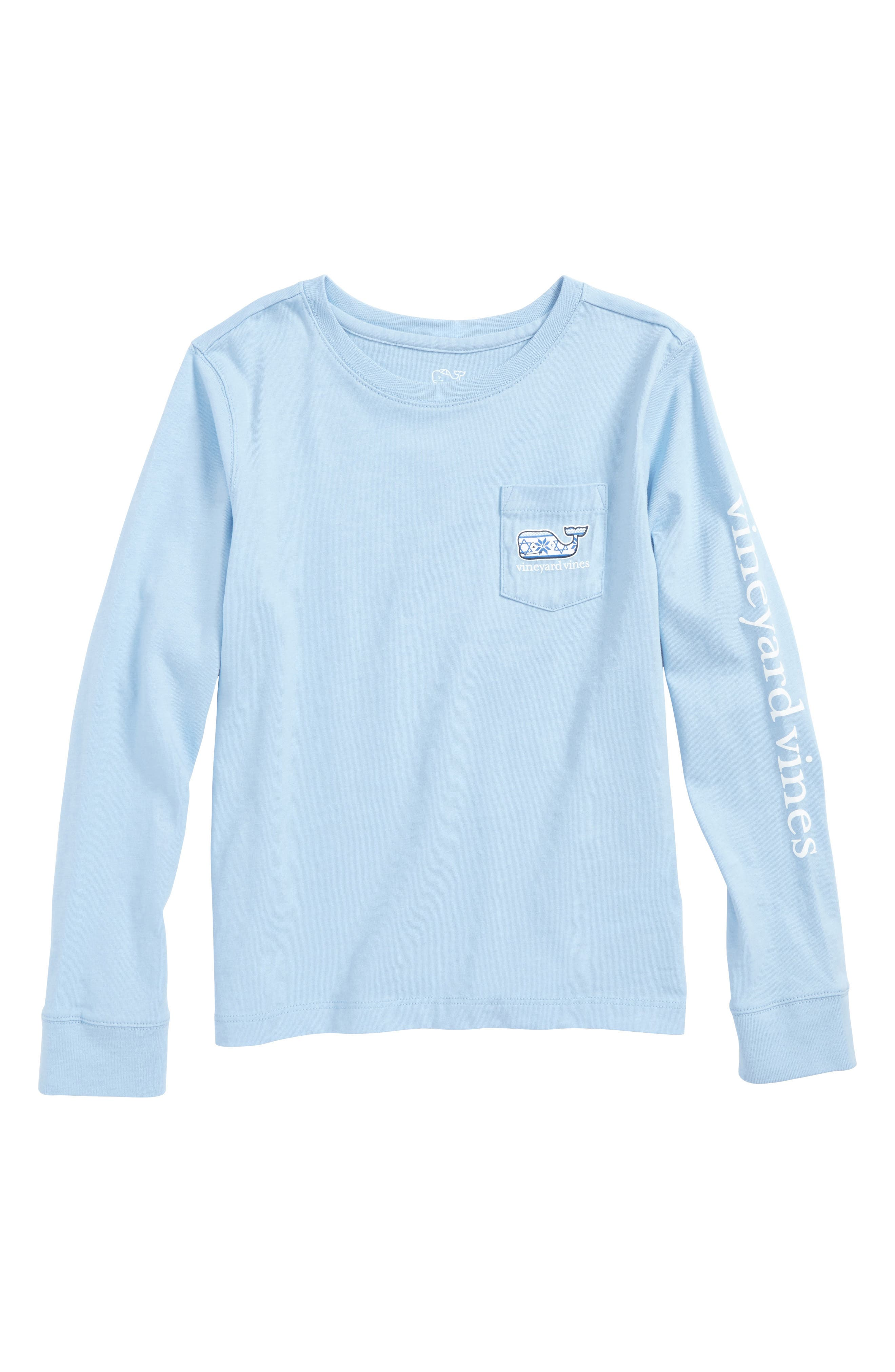 vineyard vines Happy Hanukkah 2017 Fair Isle Print T-Shirt (Toddler Boys & Little Boys)