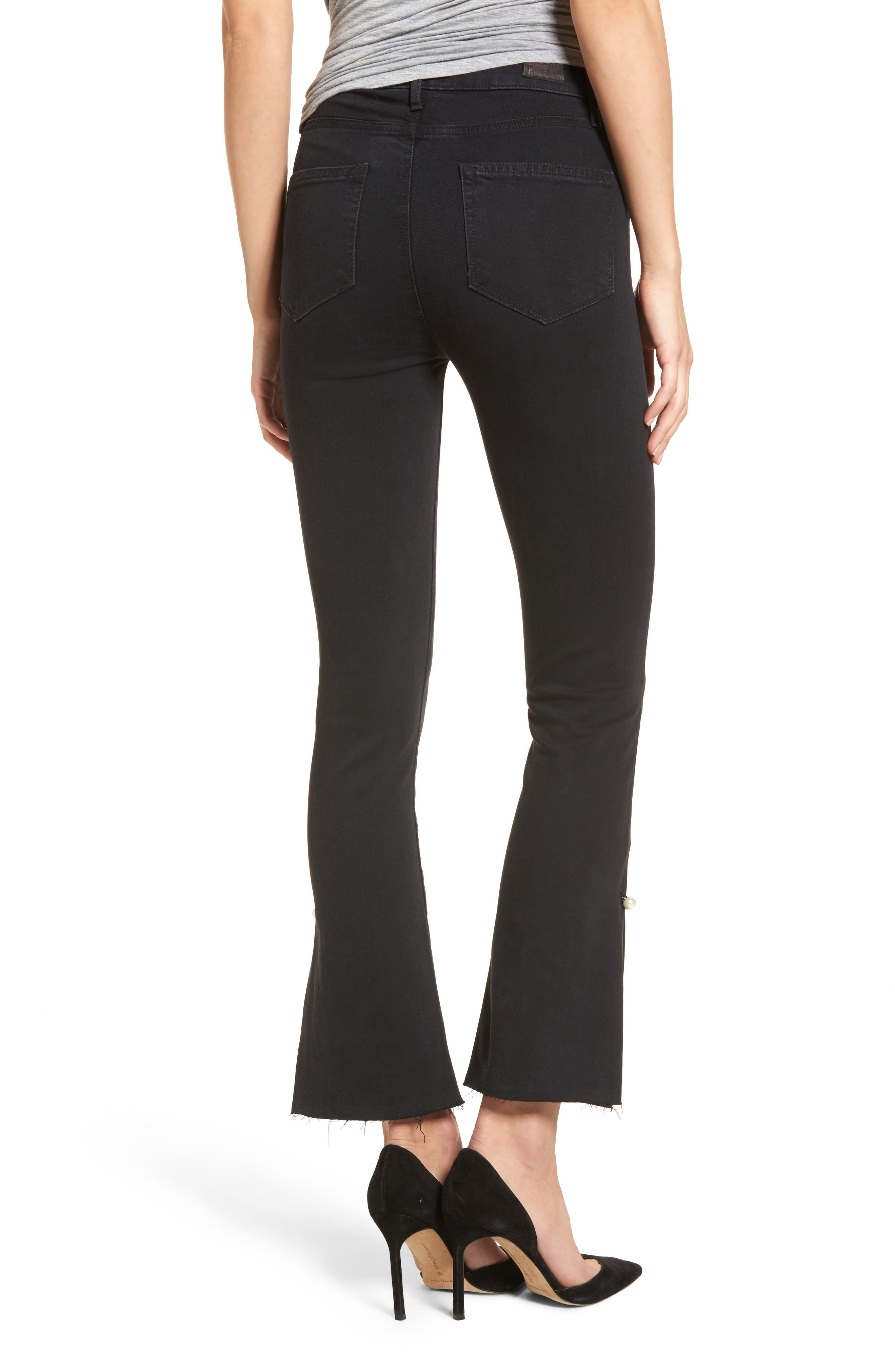 Alternate Image 2  - PAIGE Transcend - Colette High Waist Crop Flare Jeans (Bandit)