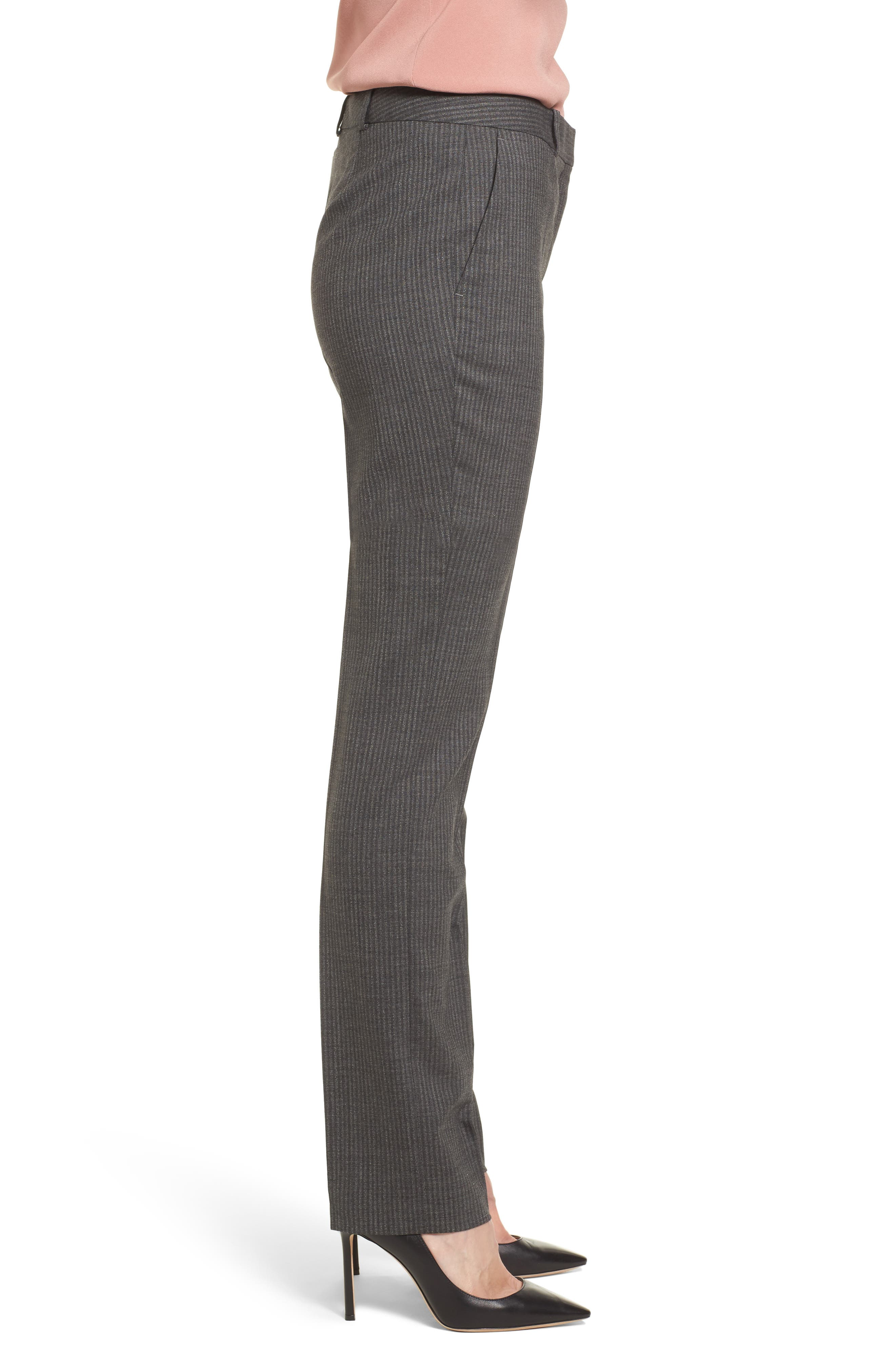 Titana Stretch Wool Trousers,                             Alternate thumbnail 3, color,                             Dark Grey Fantasy