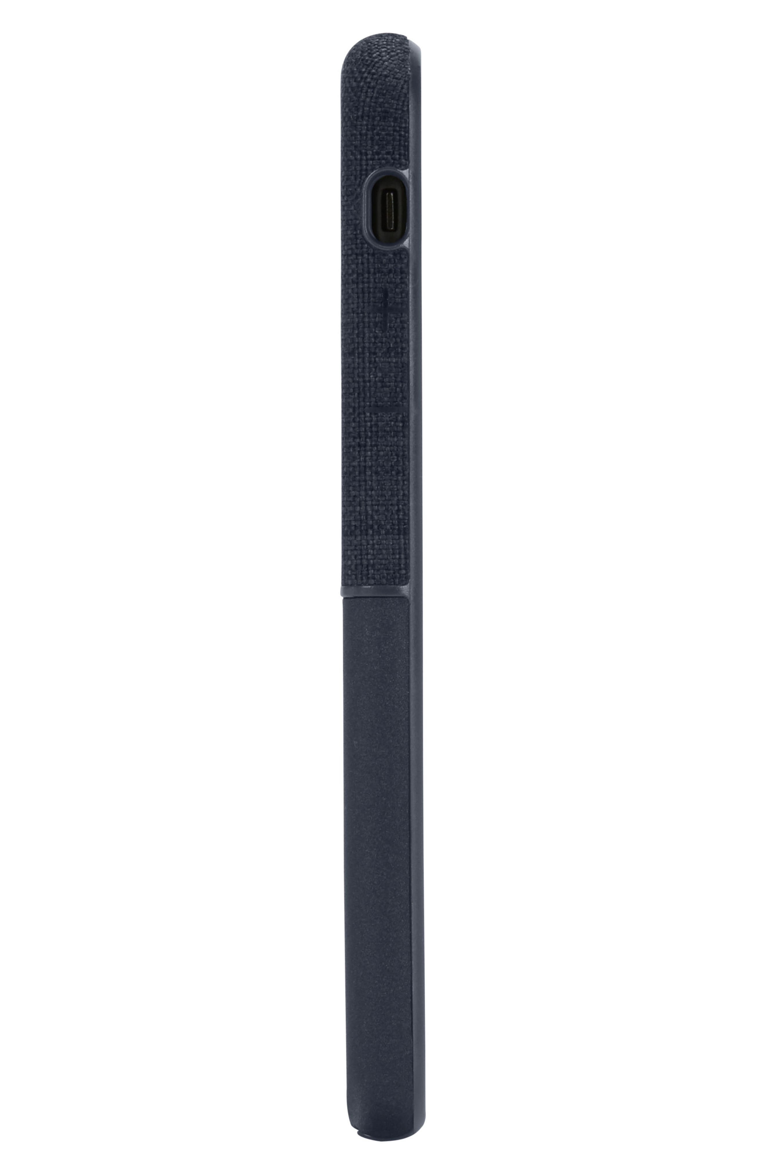 Textured Snap iPhone X Case,                             Alternate thumbnail 5, color,                             Navy