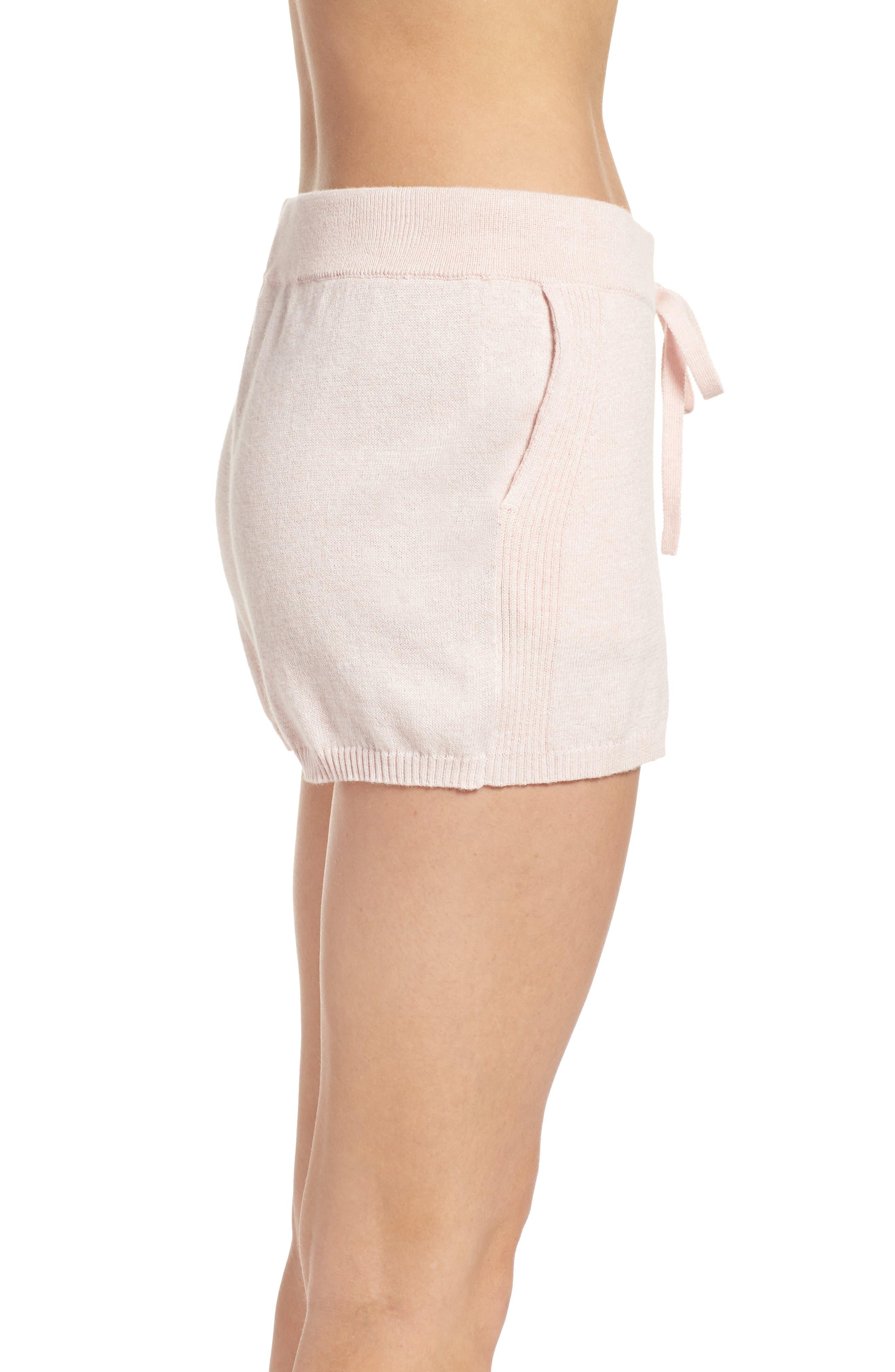 Vic Lounge Shorts,                             Alternate thumbnail 3, color,                             Soft Pink