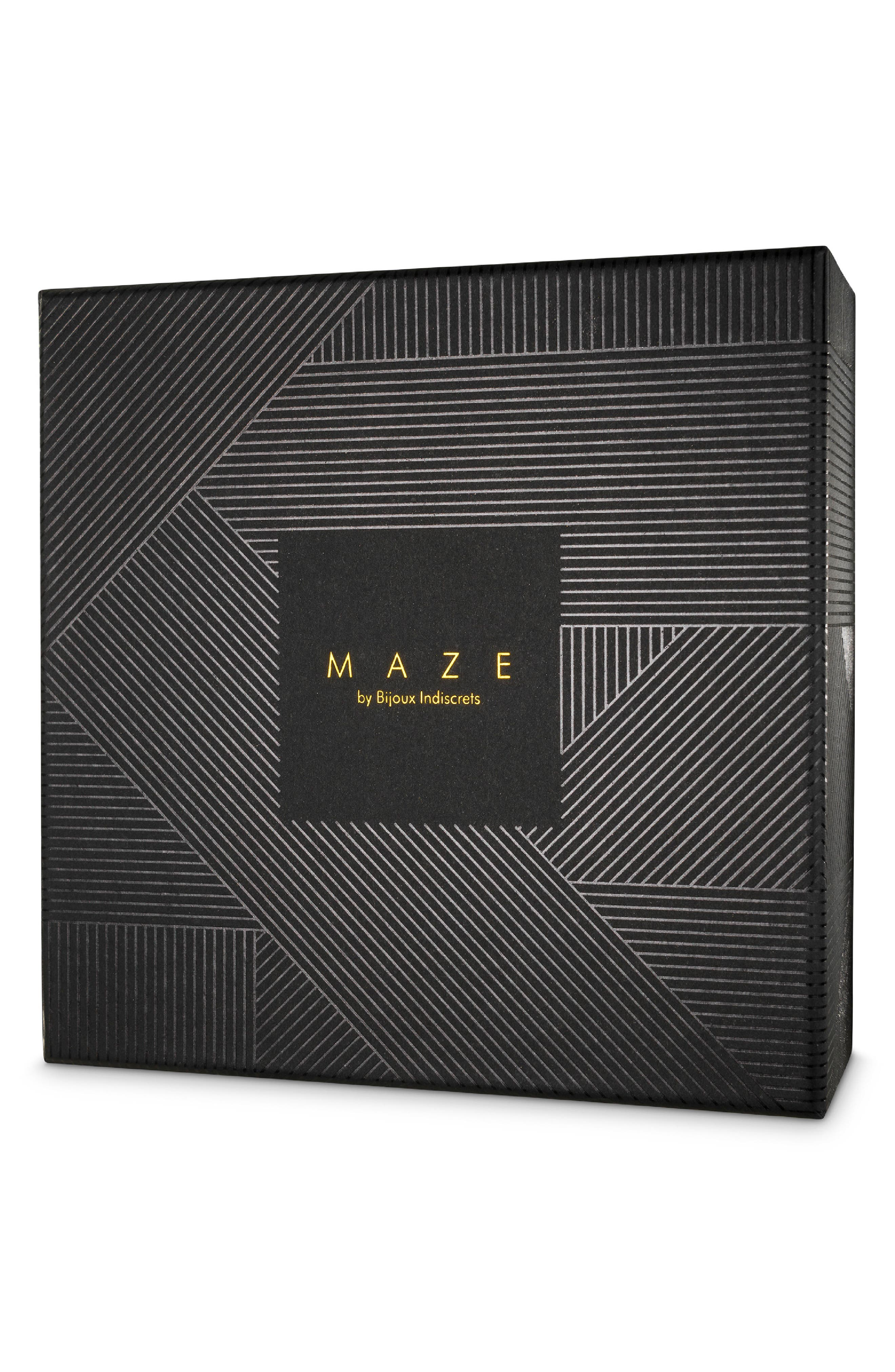 Maze Suspender Belt & Garter Straps,                             Alternate thumbnail 6, color,                             Black
