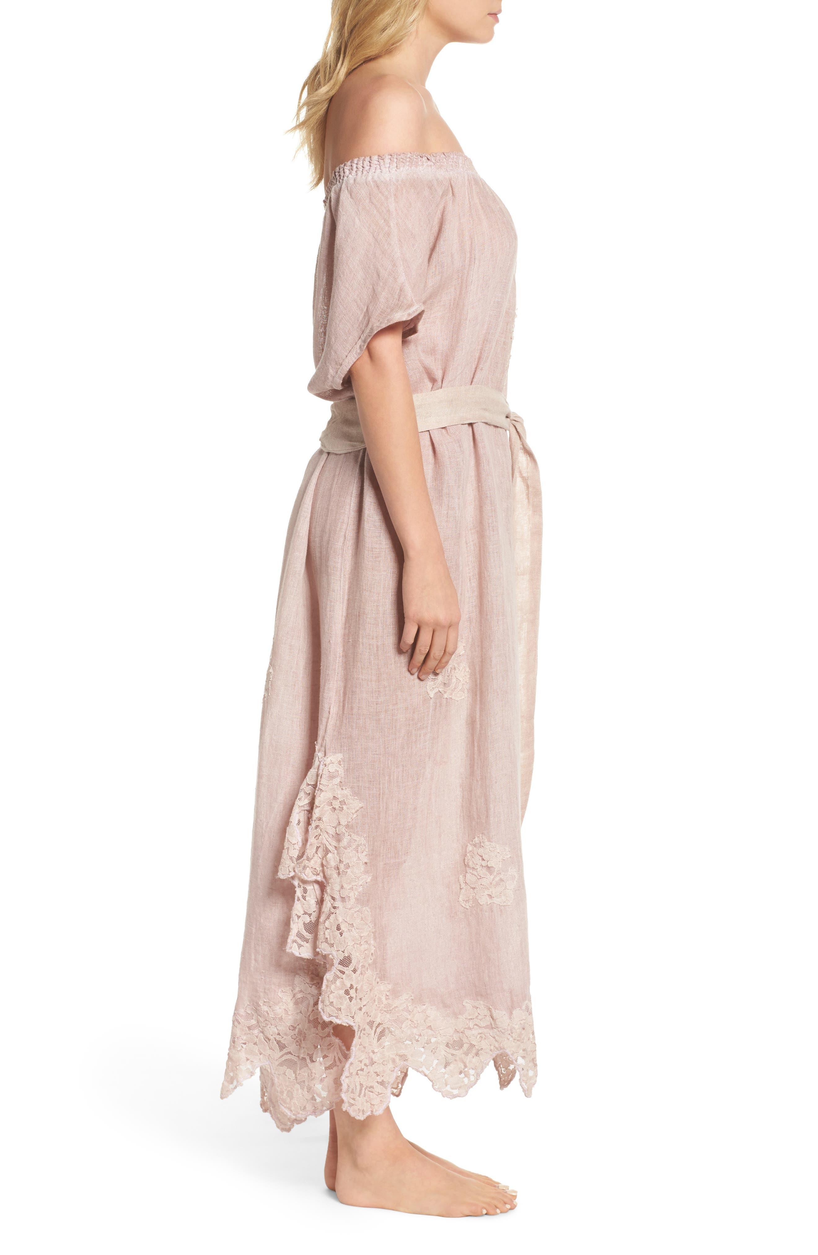 Alternate Image 3  - Muche et Muchette Daisy Linen Cover-Up Dress
