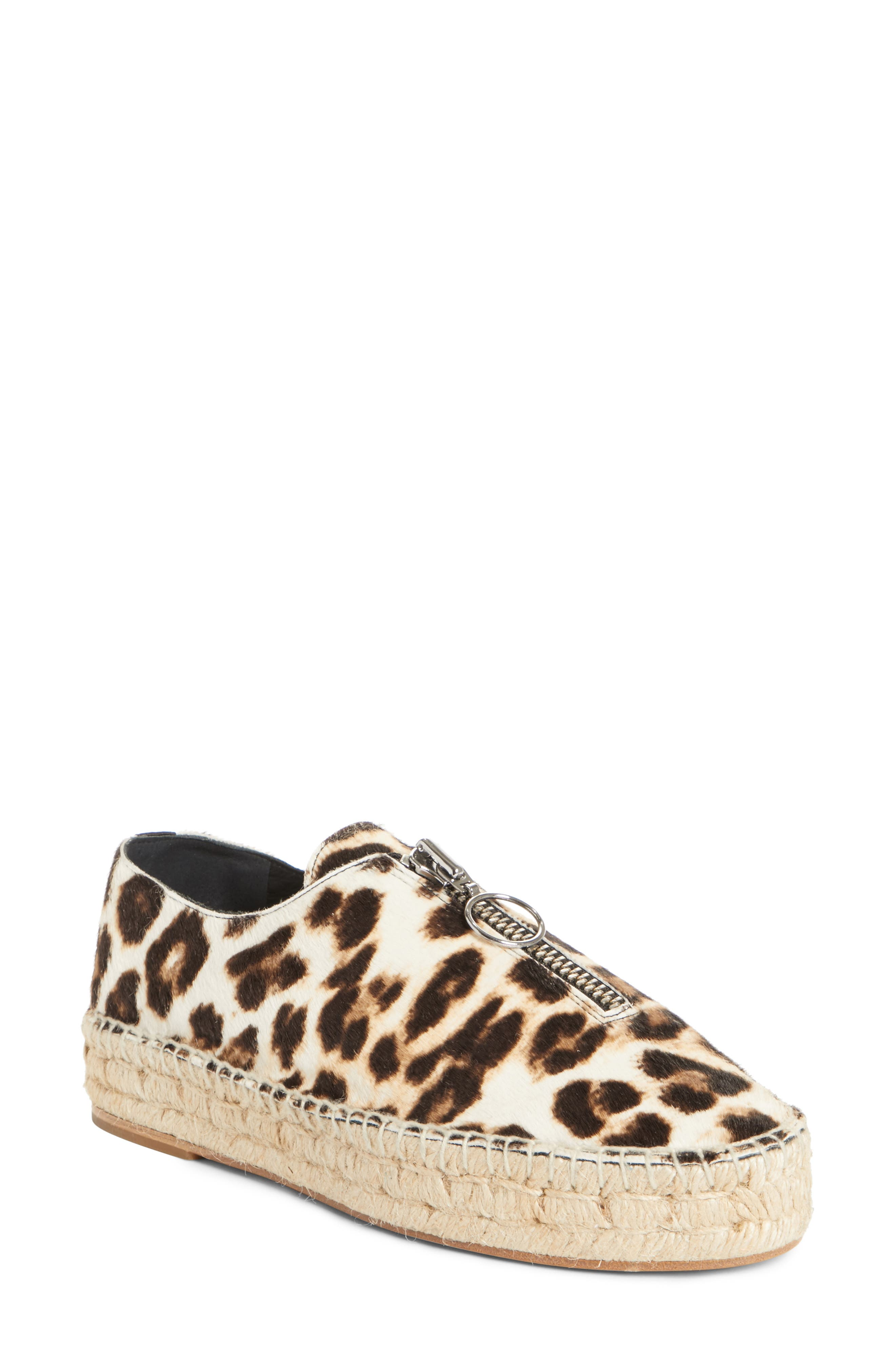Alexander Wang 'Devon' Genuine Calf Hair Espadrille Flat (Women)