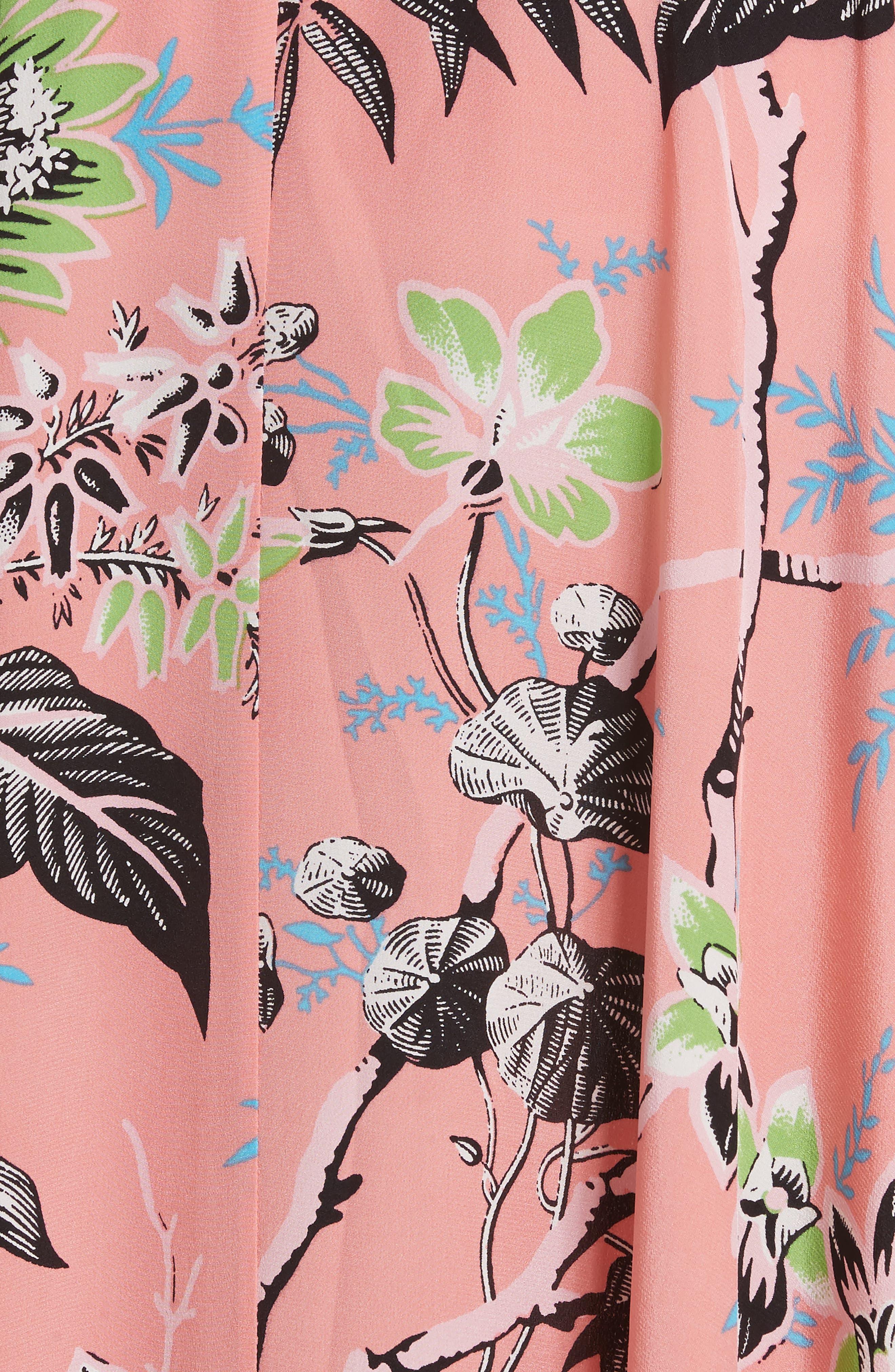 Diane von Furstenberg Draped Silk Maxi Skirt,                             Alternate thumbnail 5, color,                             Avalon Hyacinth