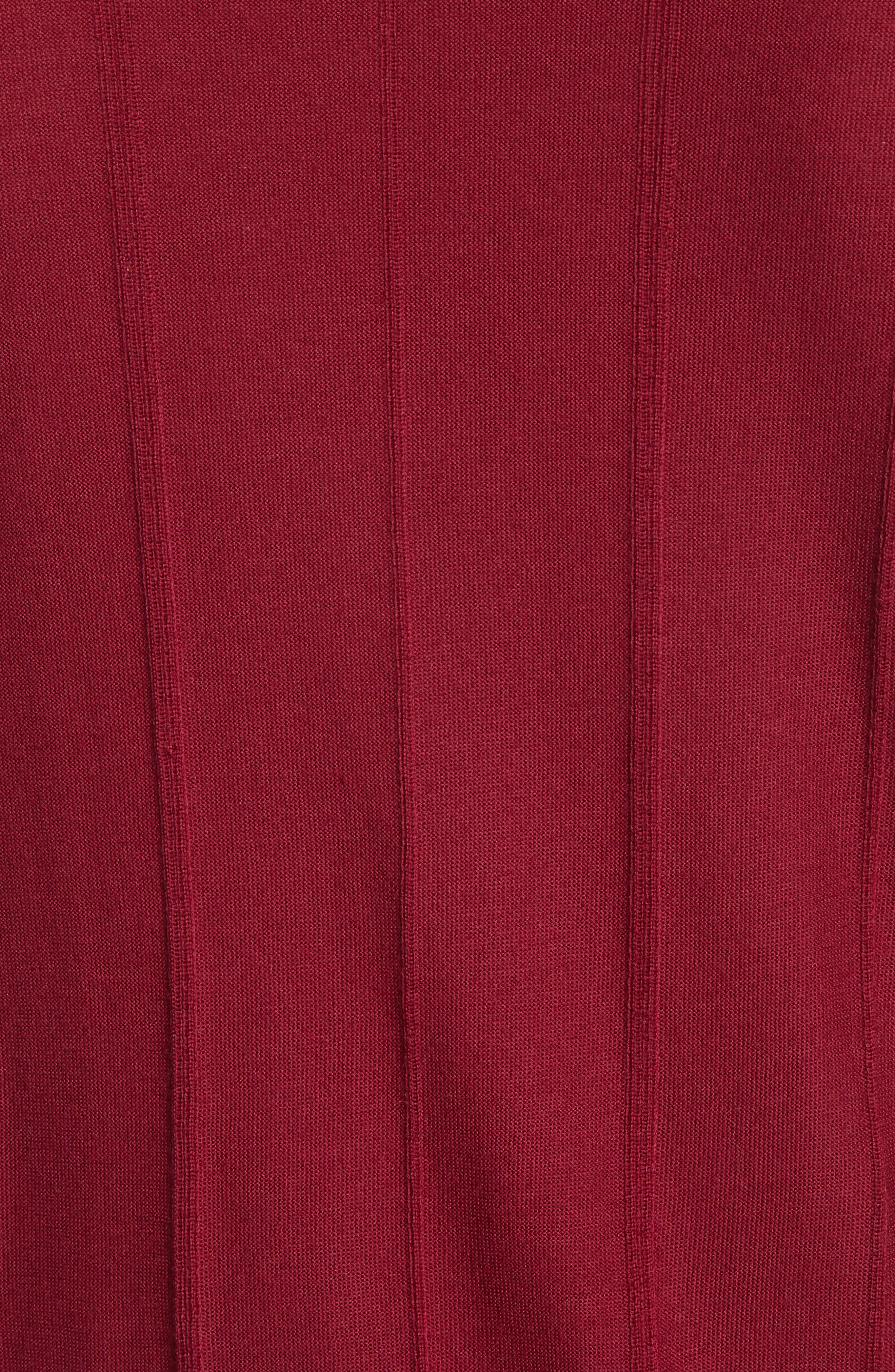 Slim Fit Wool Crewneck Sweater,                             Alternate thumbnail 5, color,                             Borgogna