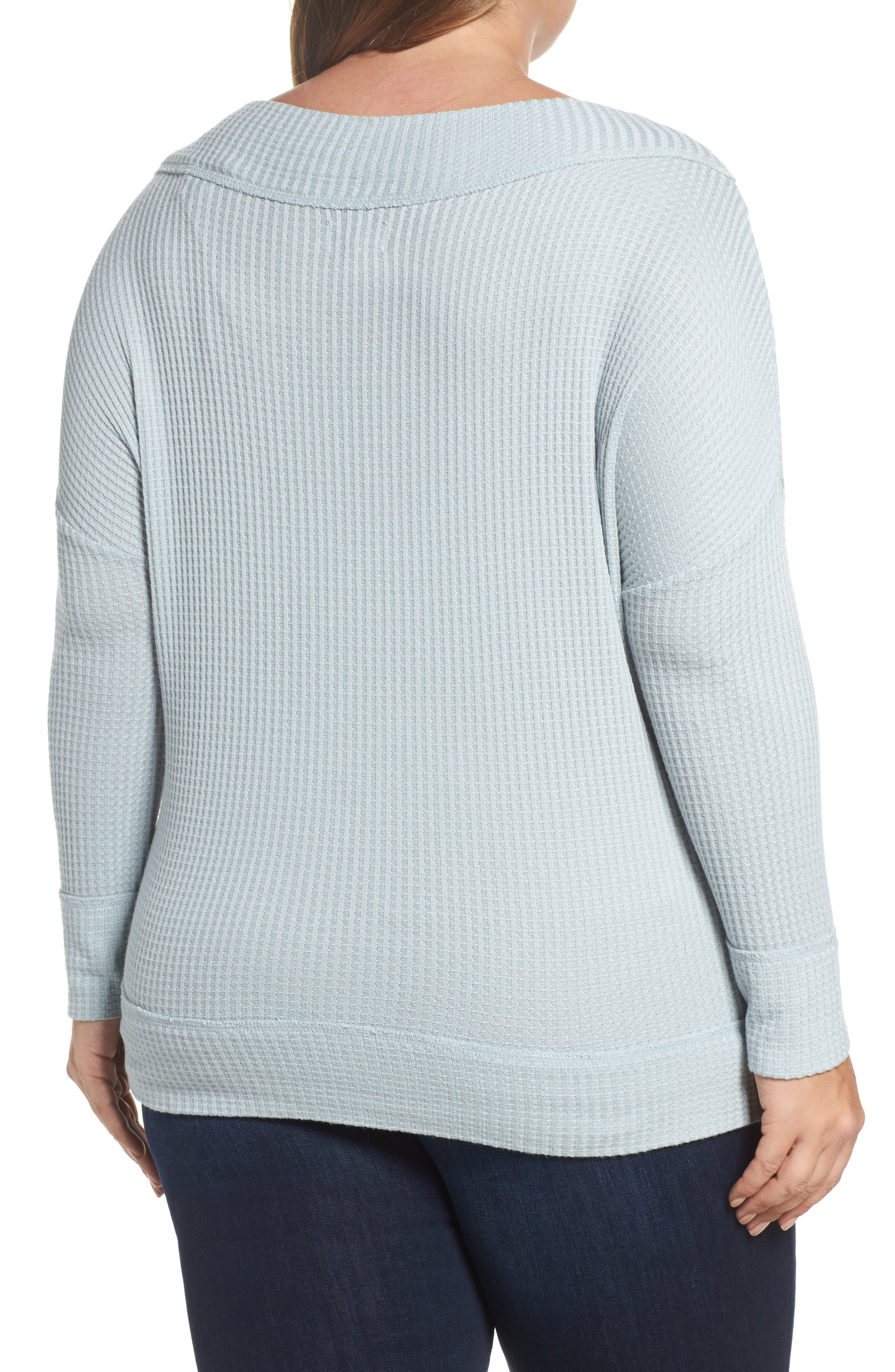 Alternate Image 2  - Lucky Brand Waffle Thermal Top (Plus Size)