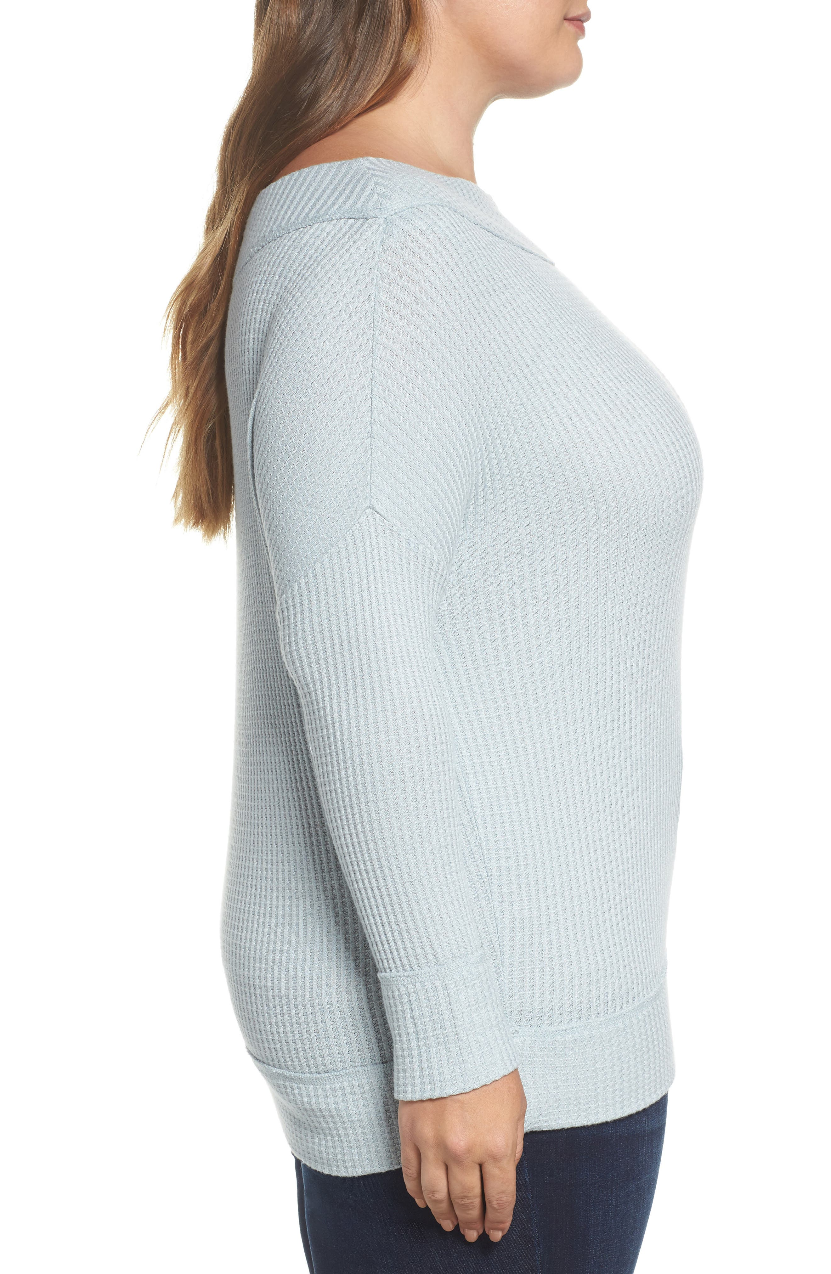 Alternate Image 3  - Lucky Brand Waffle Thermal Top (Plus Size)