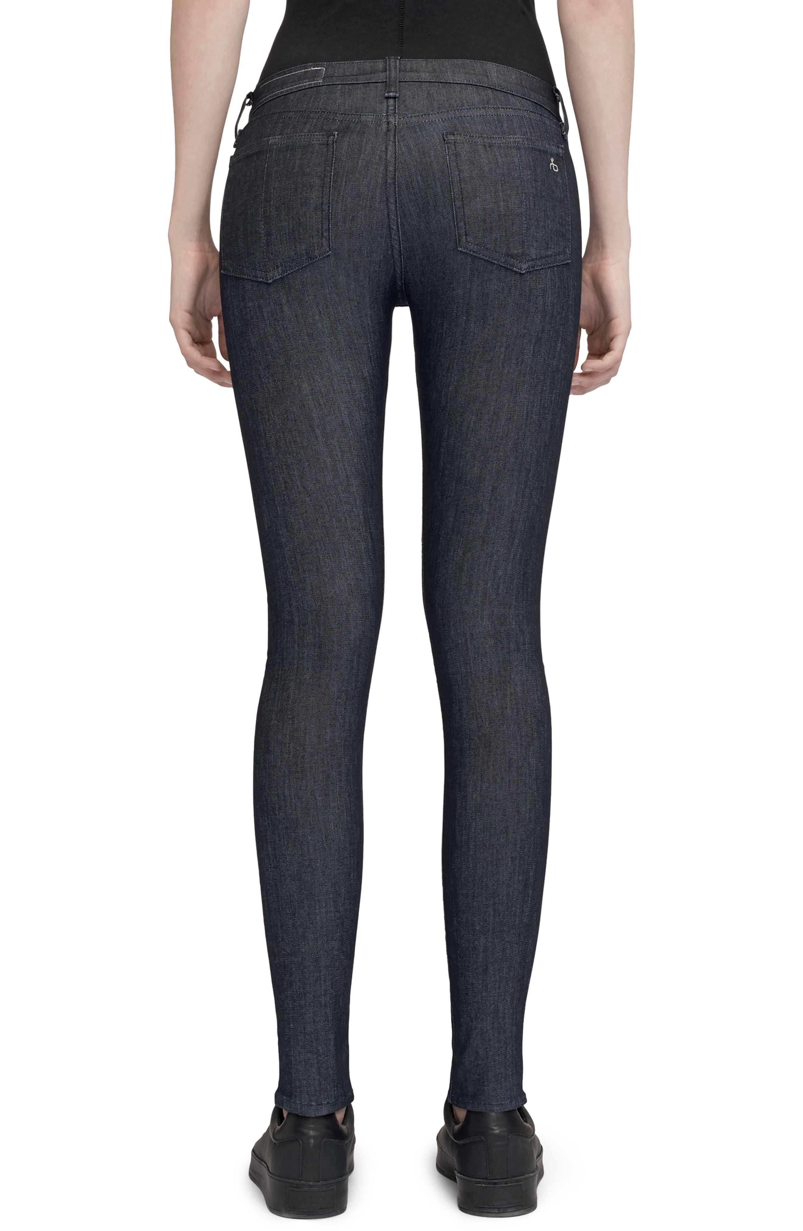 Alternate Image 2  - rag & bone/JEAN Skinny Jeans (Indigo)