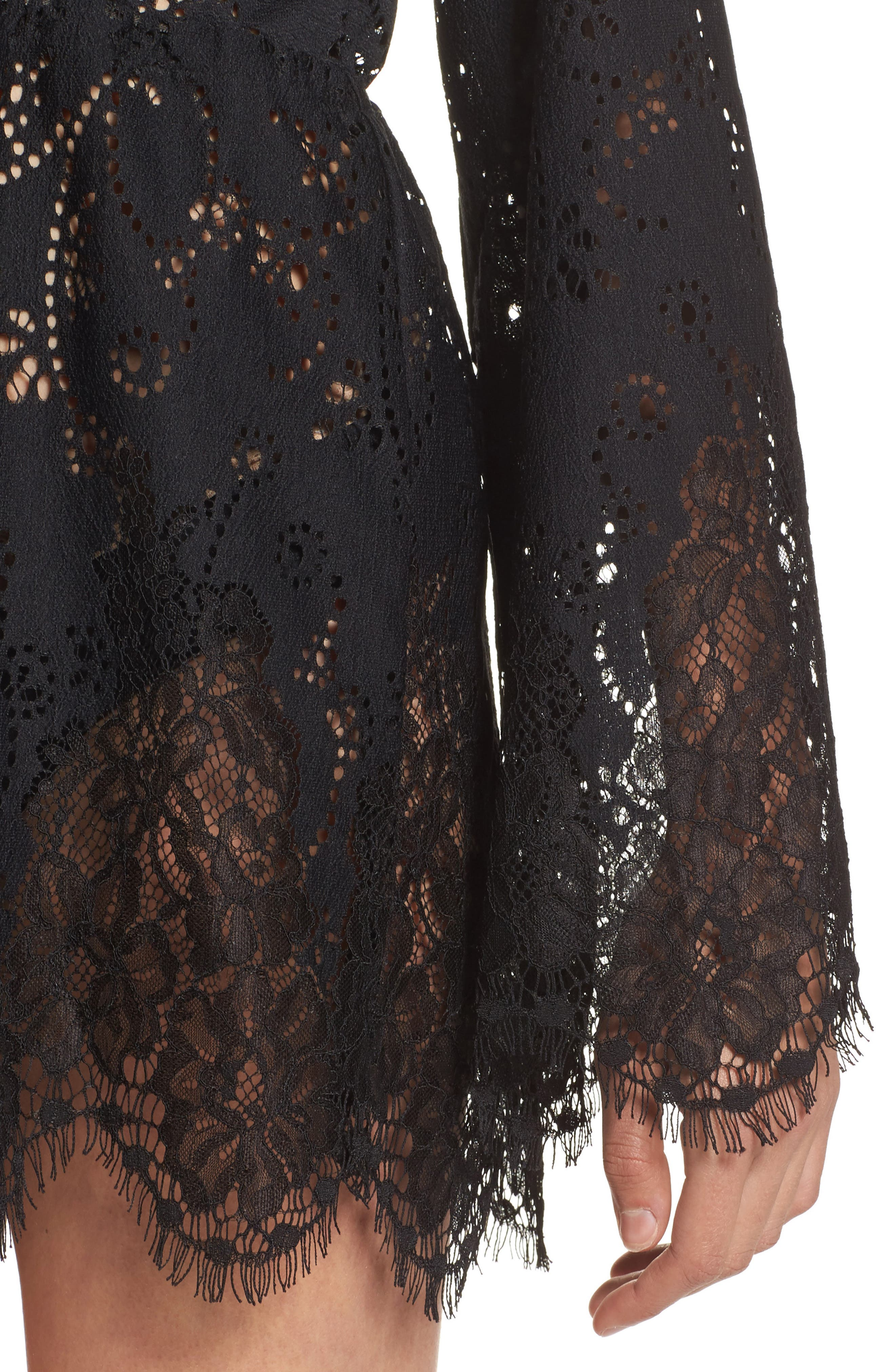 Alternate Image 4  - For Love & Lemons Olympia Lace Cover-Up Romper