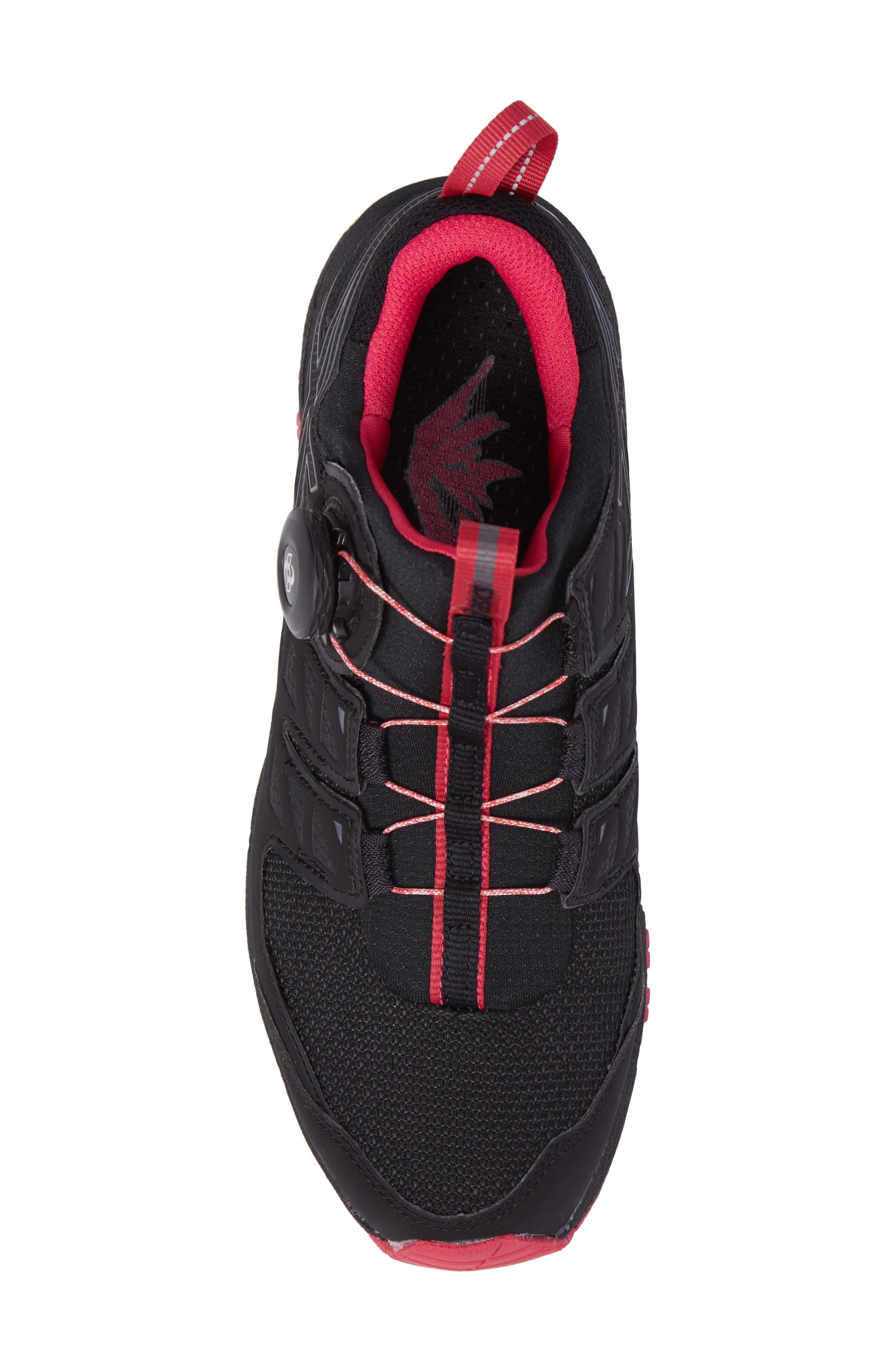 GEL-Fujirado Running Shoe,                             Alternate thumbnail 5, color,                             Black/ Carbon/ Cosmo Pink
