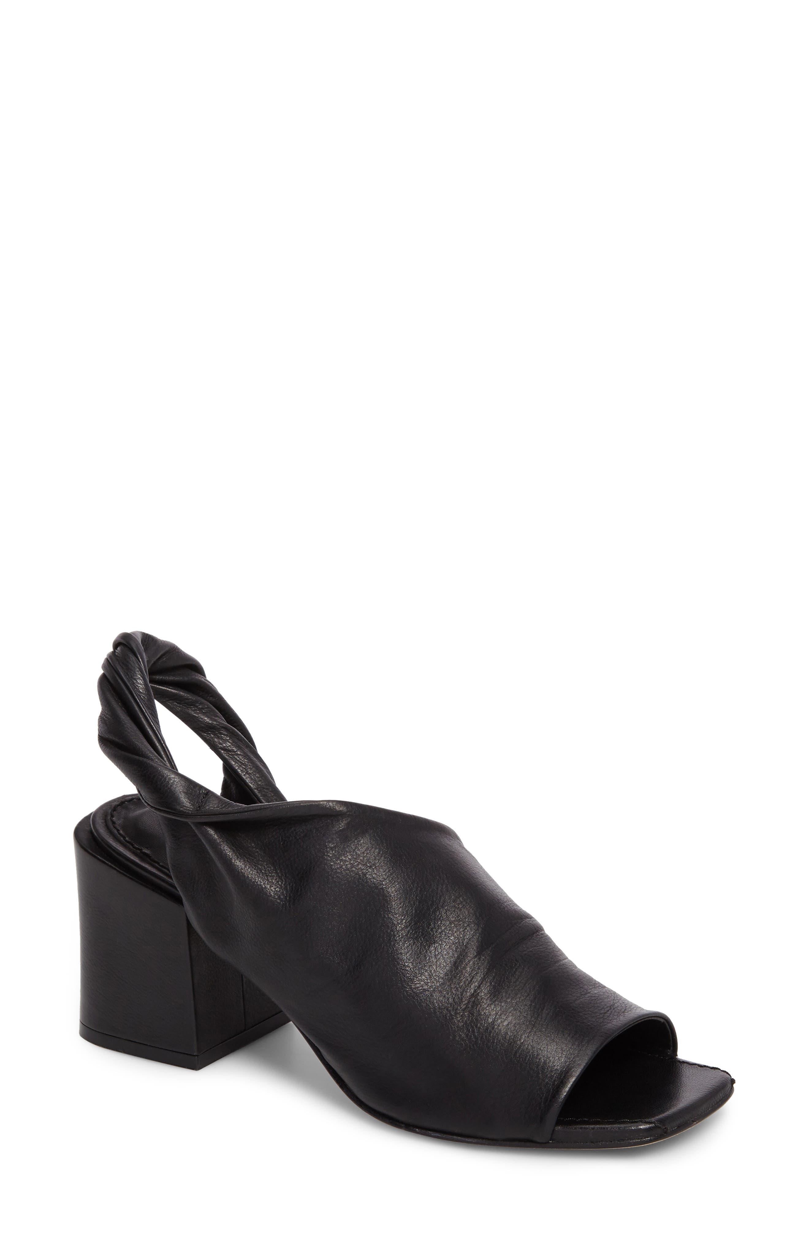 Lenny Block Heel Sandal,                         Main,                         color, Black