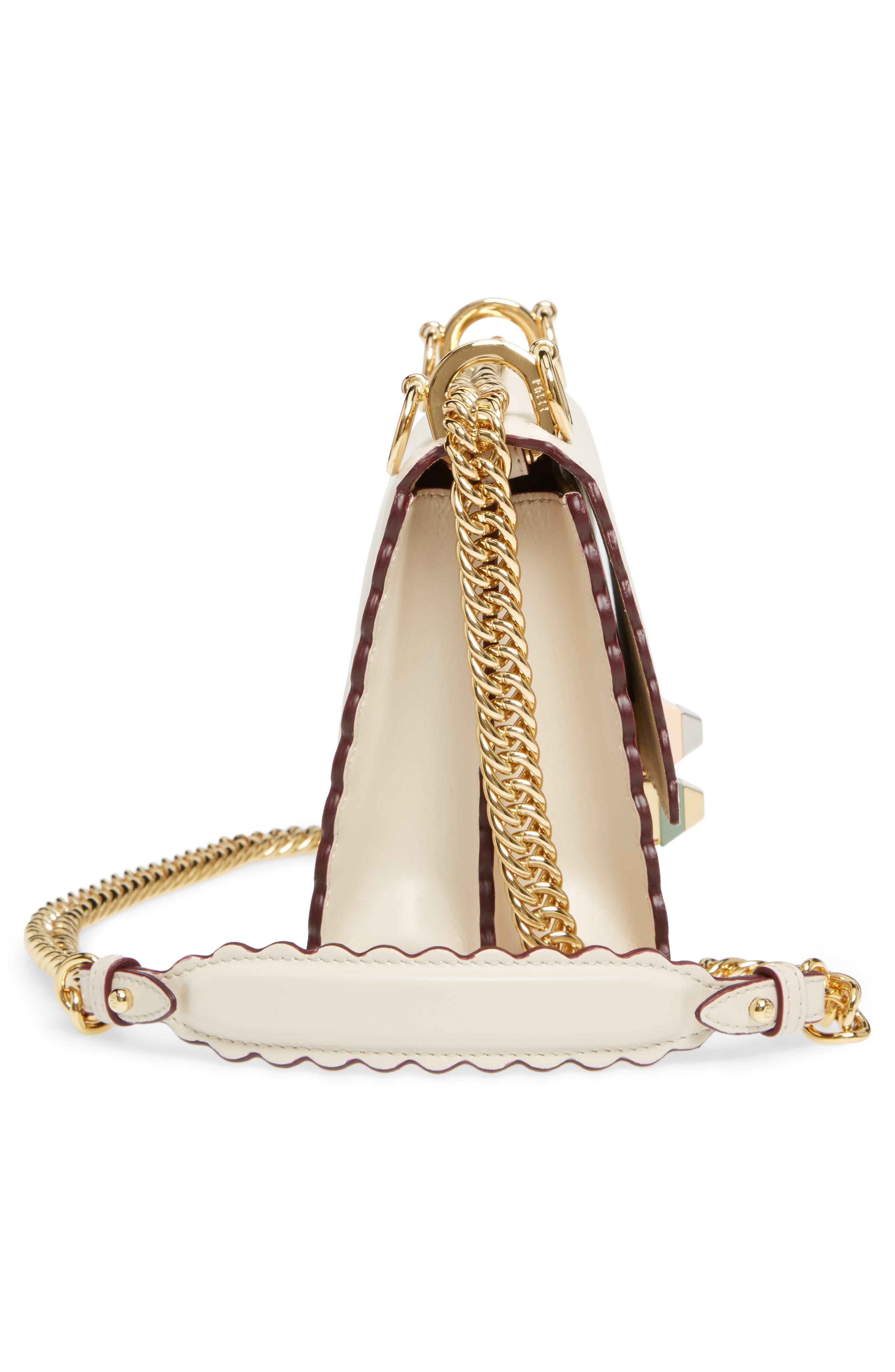Alternate Image 4  - Fendi Mini Kan I Scalloped Leather Shoulder Bag