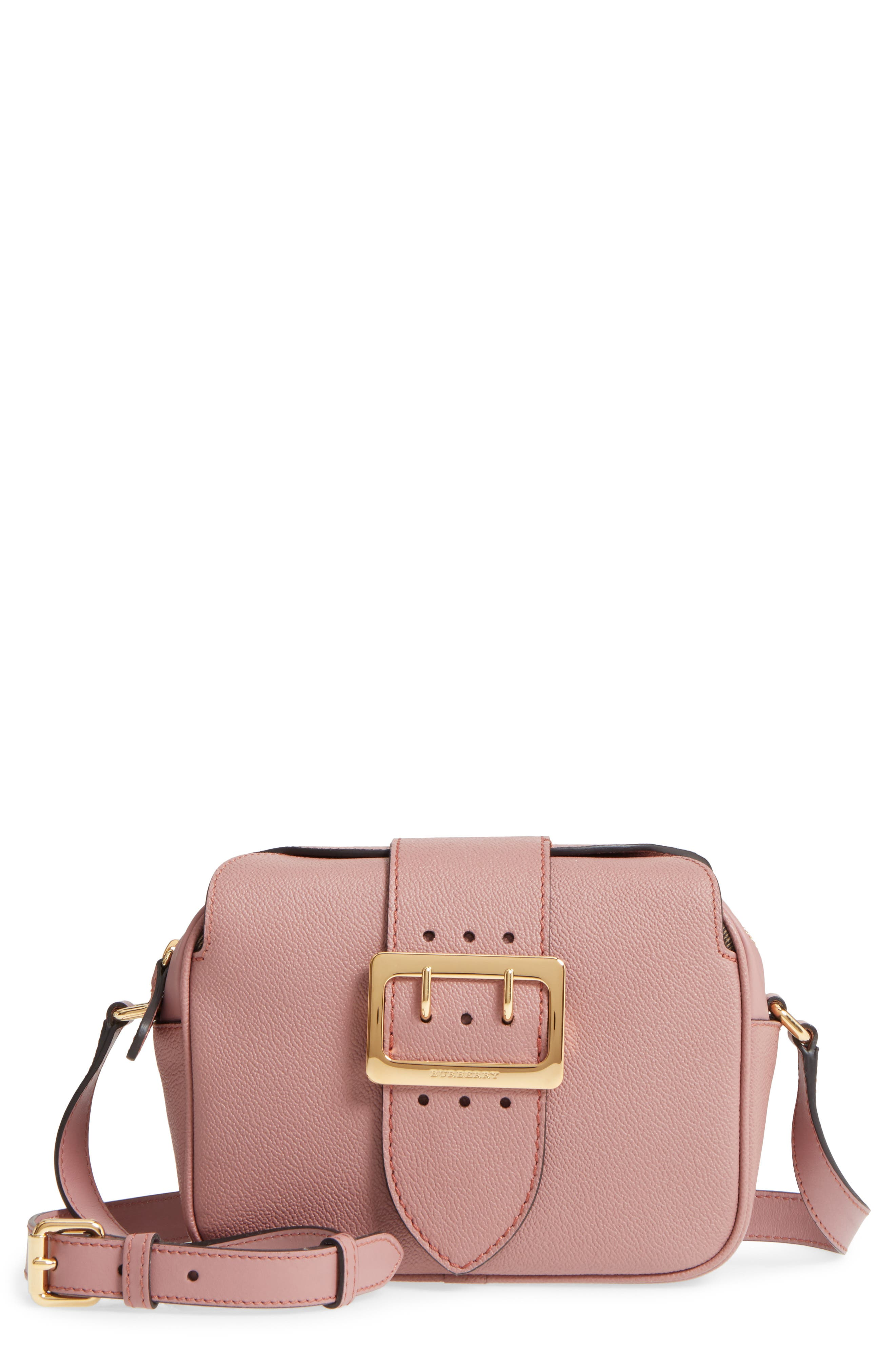 Burberry Small Buckle Leather Crossbody Bag
