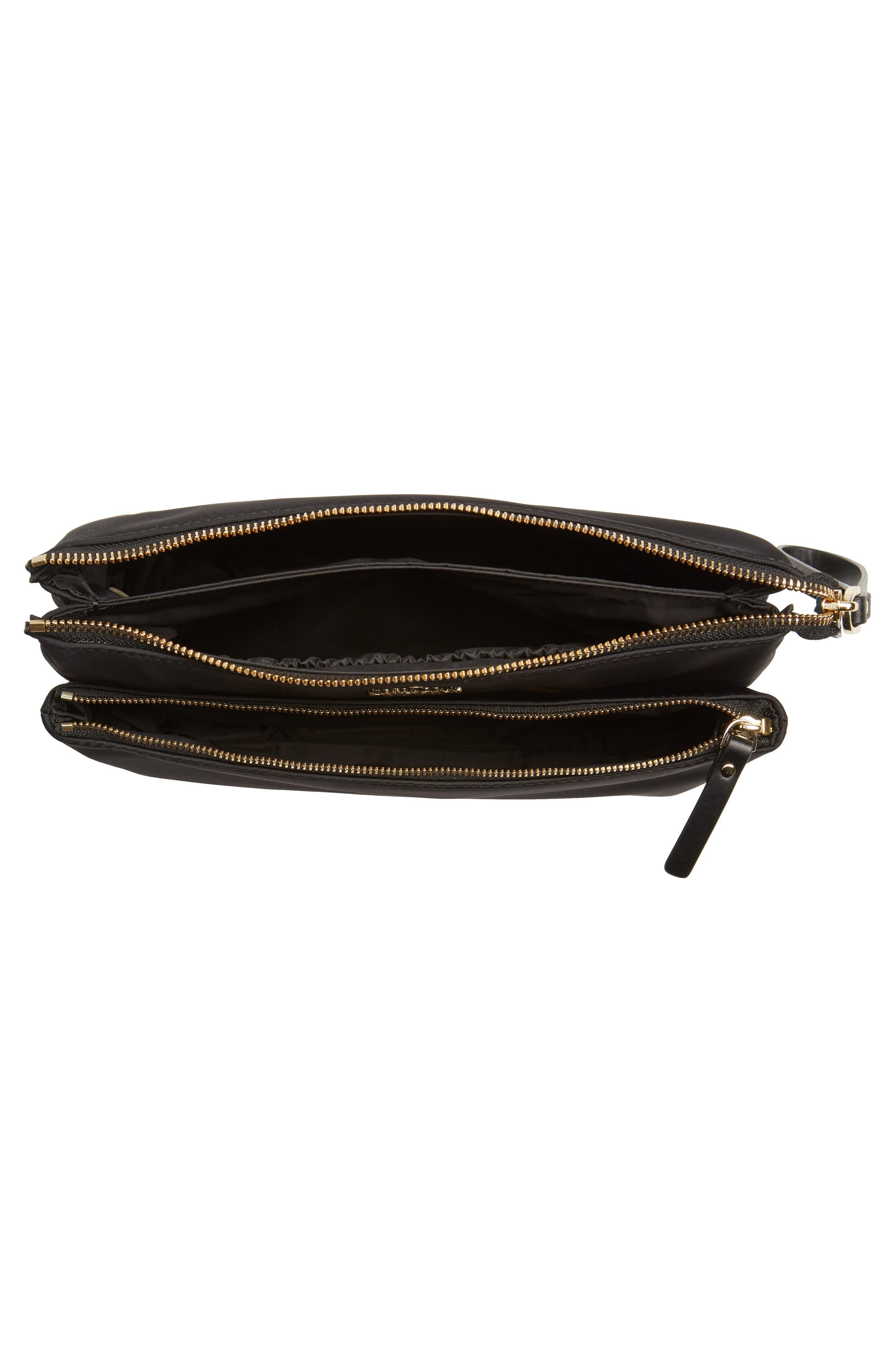 watson lane winnie baby nylon pouch with changing mat,                             Alternate thumbnail 4, color,                             Black