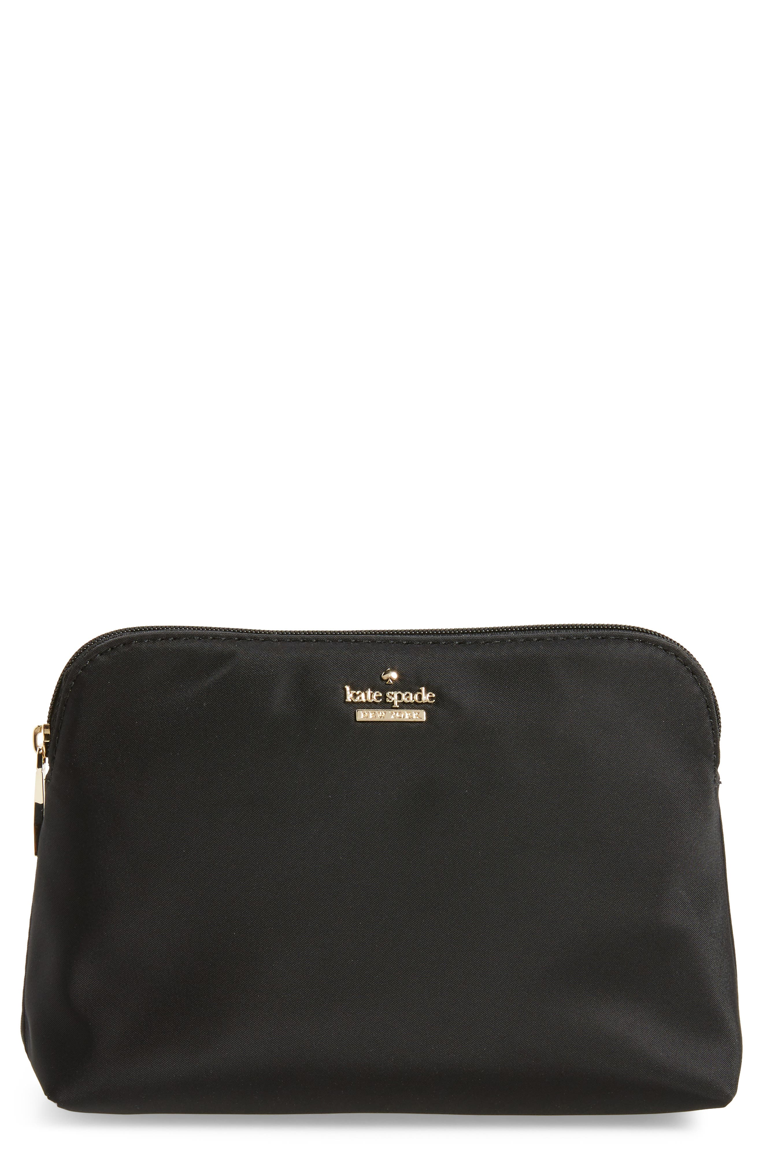 Alternate Image 1 Selected - kate spade new york small classic briley nylon cosmetics case