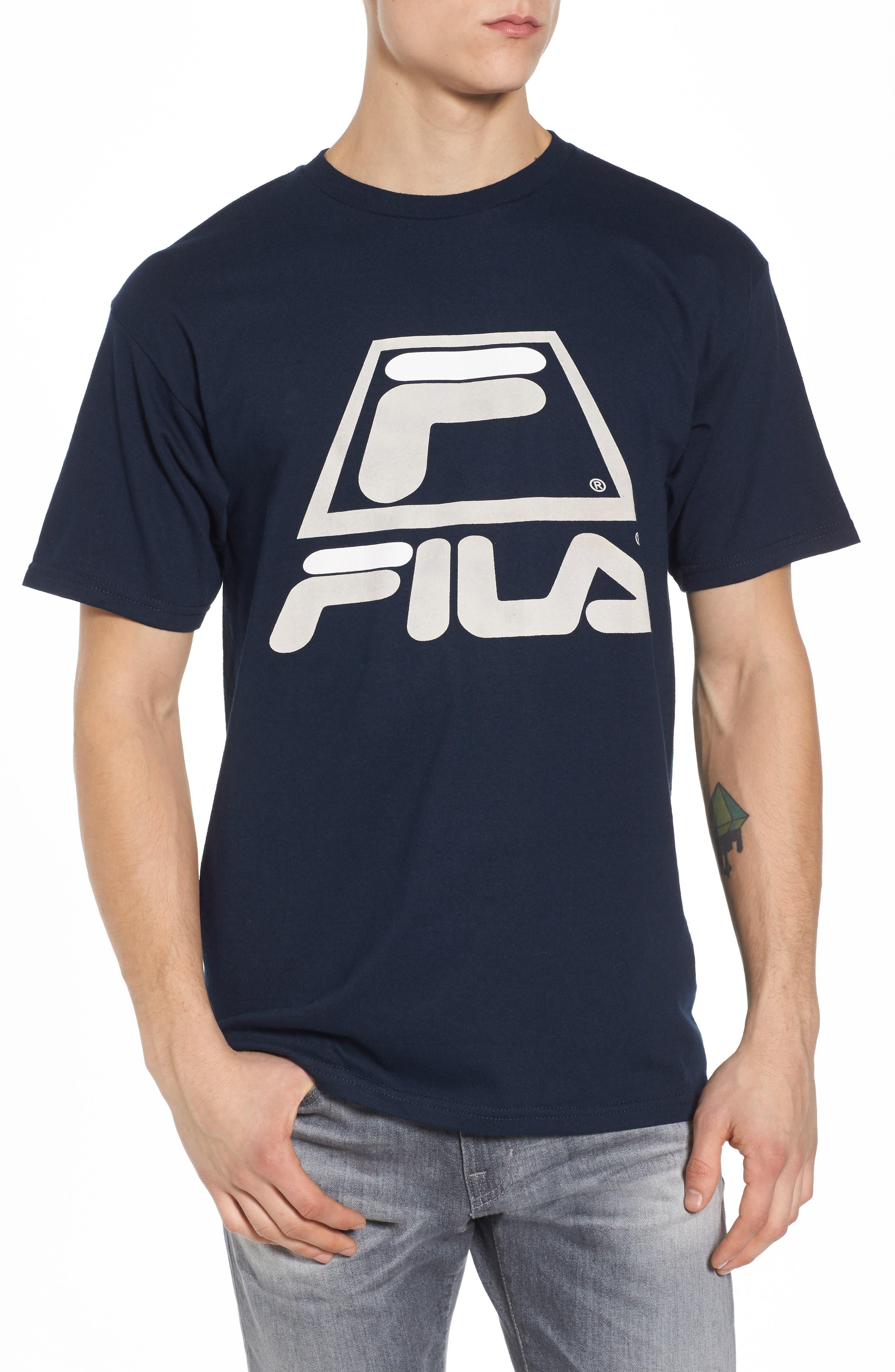 '95 T-Shirt,                         Main,                         color, Tawny Port/ Navy/ White