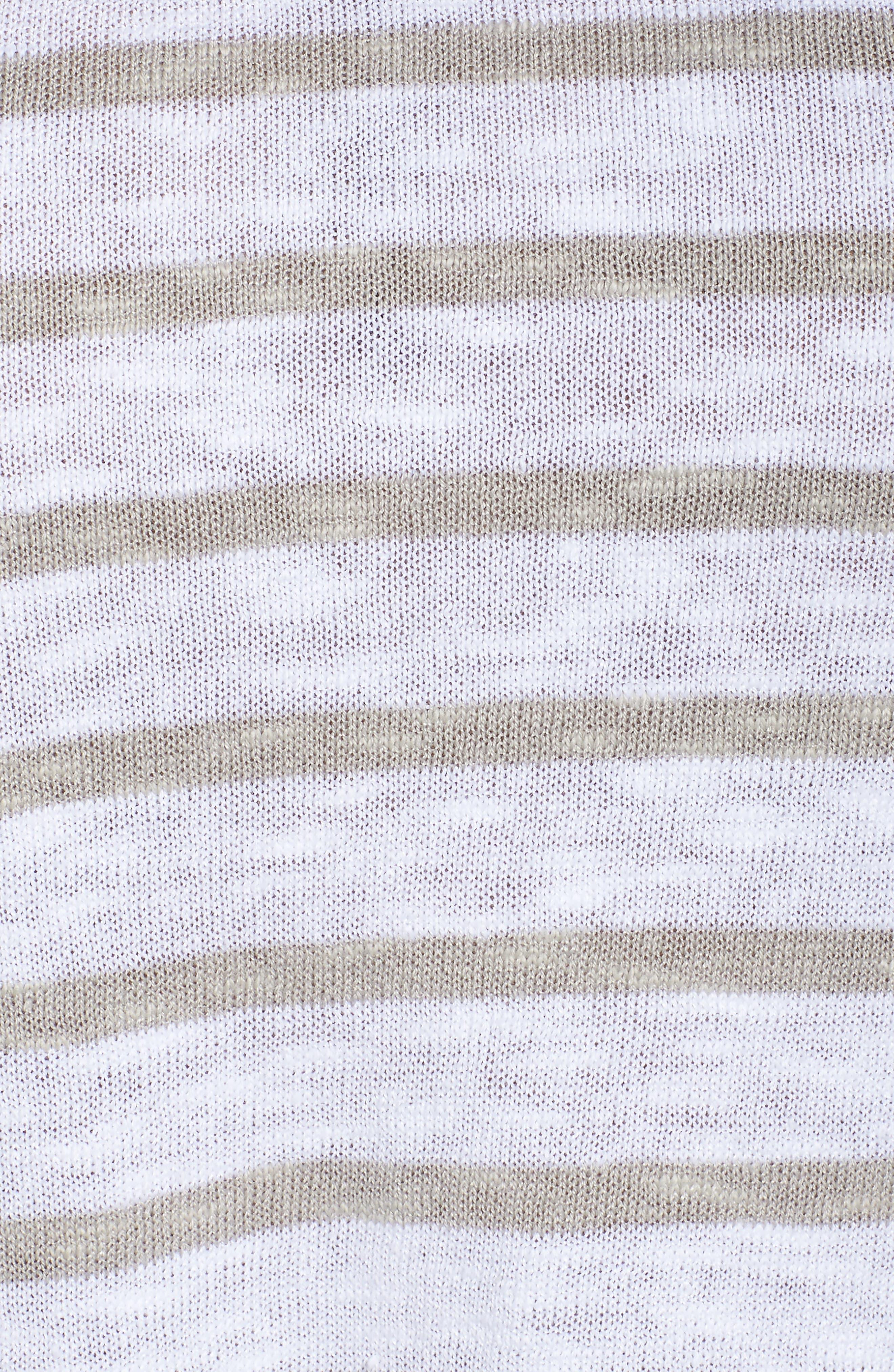 Alternate Image 5  - Eileen Fisher Stripe Organic Linen & Cotton Top (Plus Size)