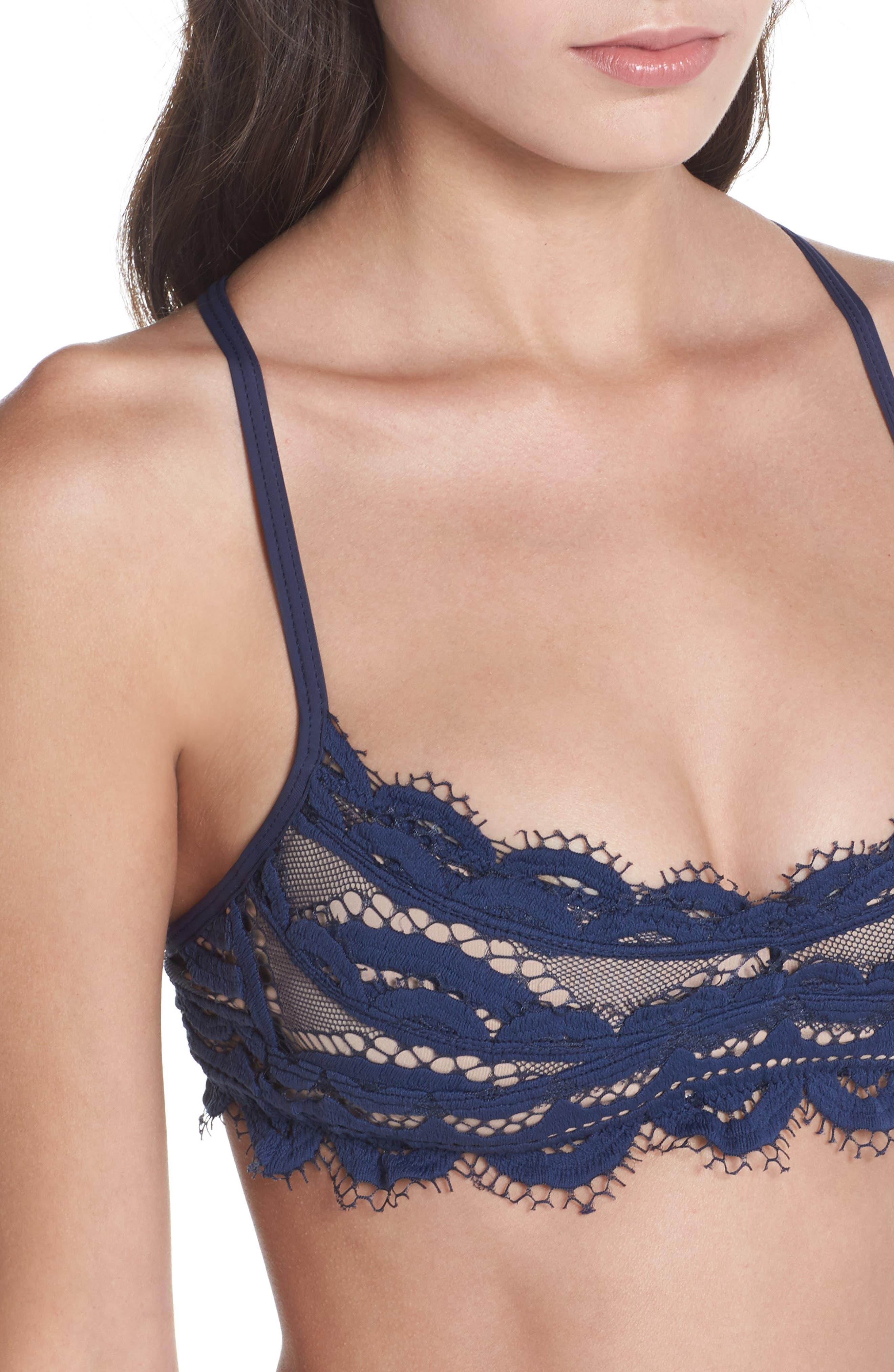 Alternate Image 4  - PilyQ Lace Bralette Bikini Top