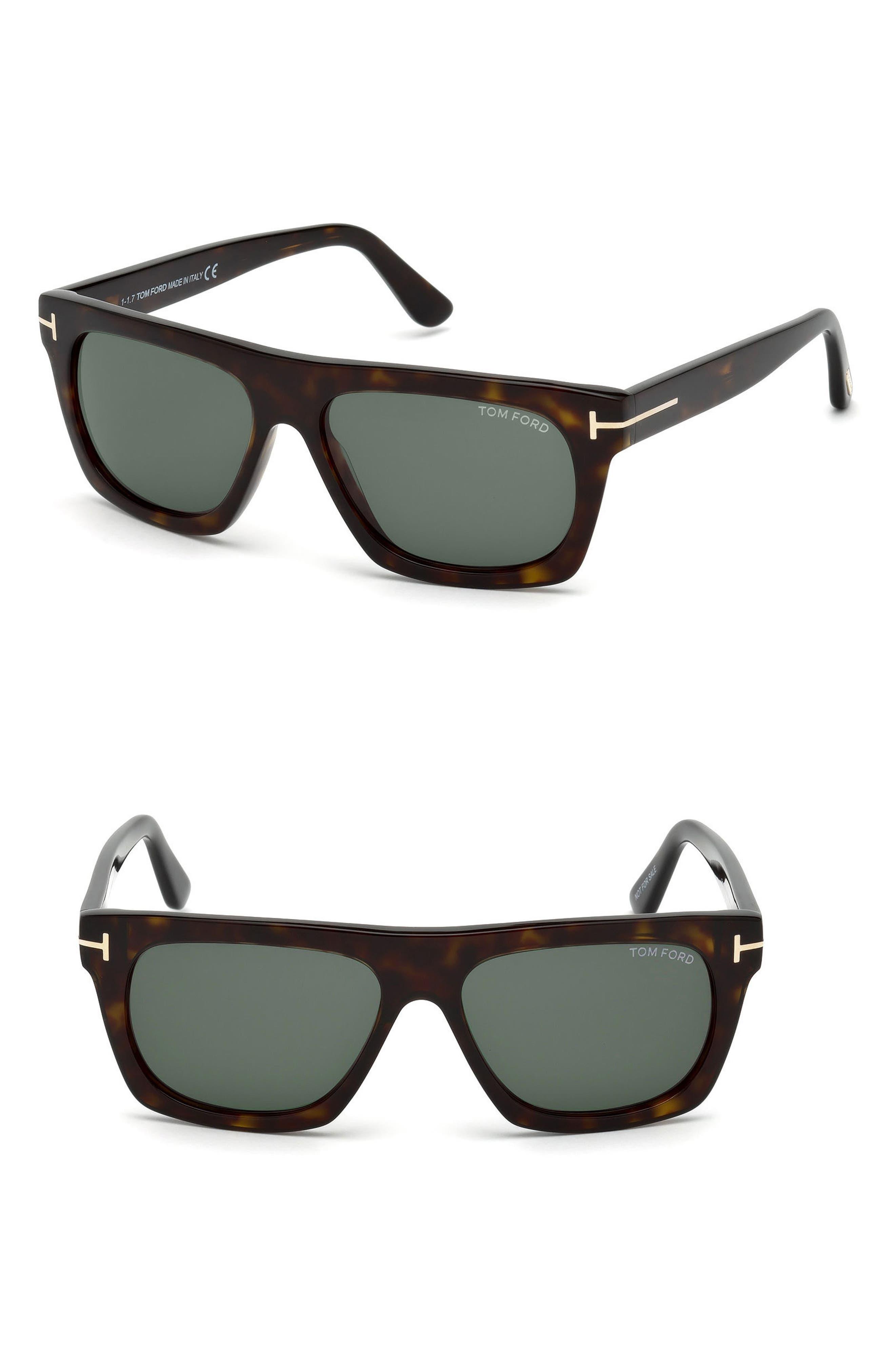 Ernesto 55mm Sunglasses,                             Main thumbnail 1, color,                             Dark Havana/ Green Lenses
