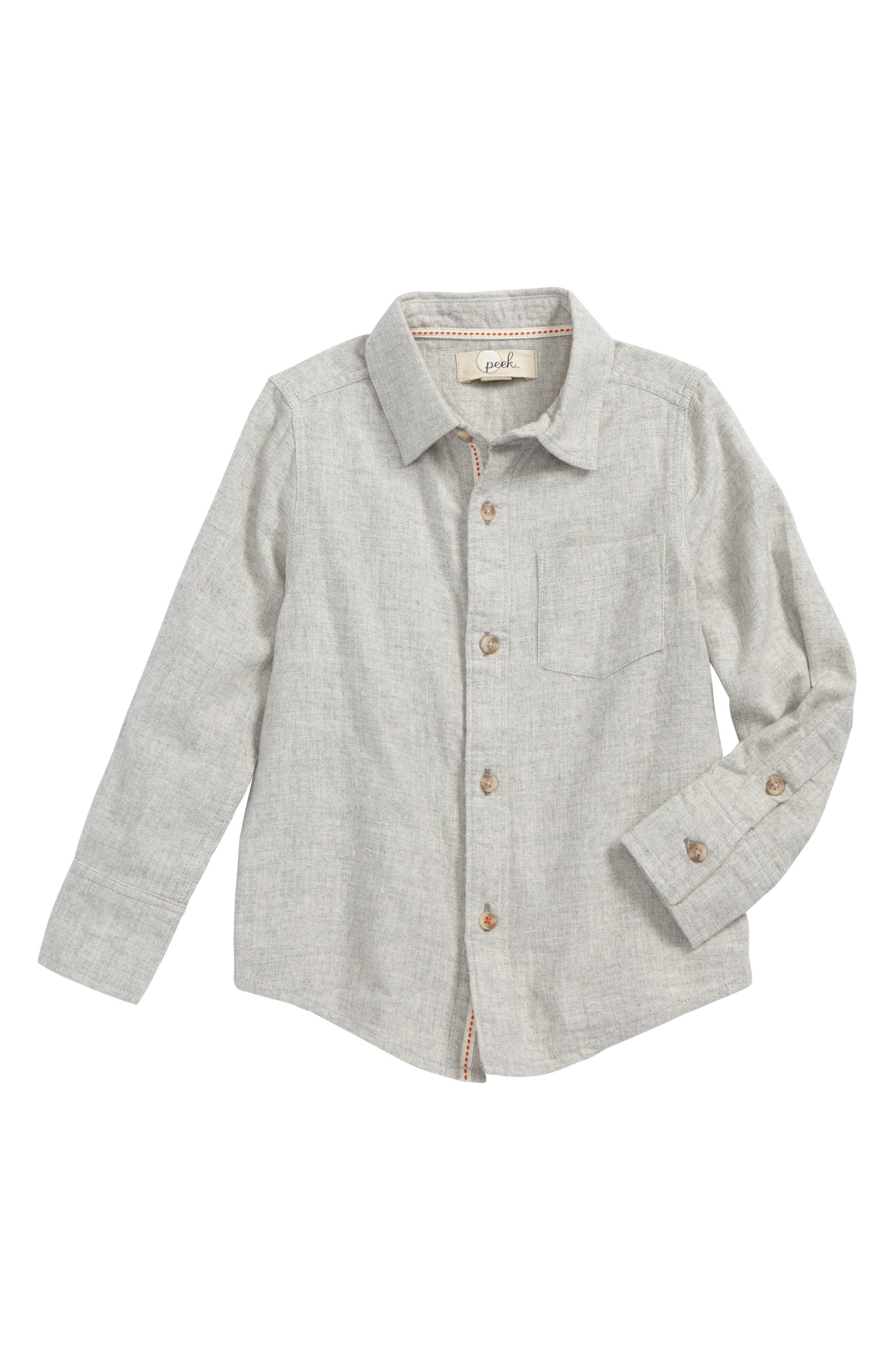 Colin Plaid Flannel Shirt,                         Main,                         color, Grey