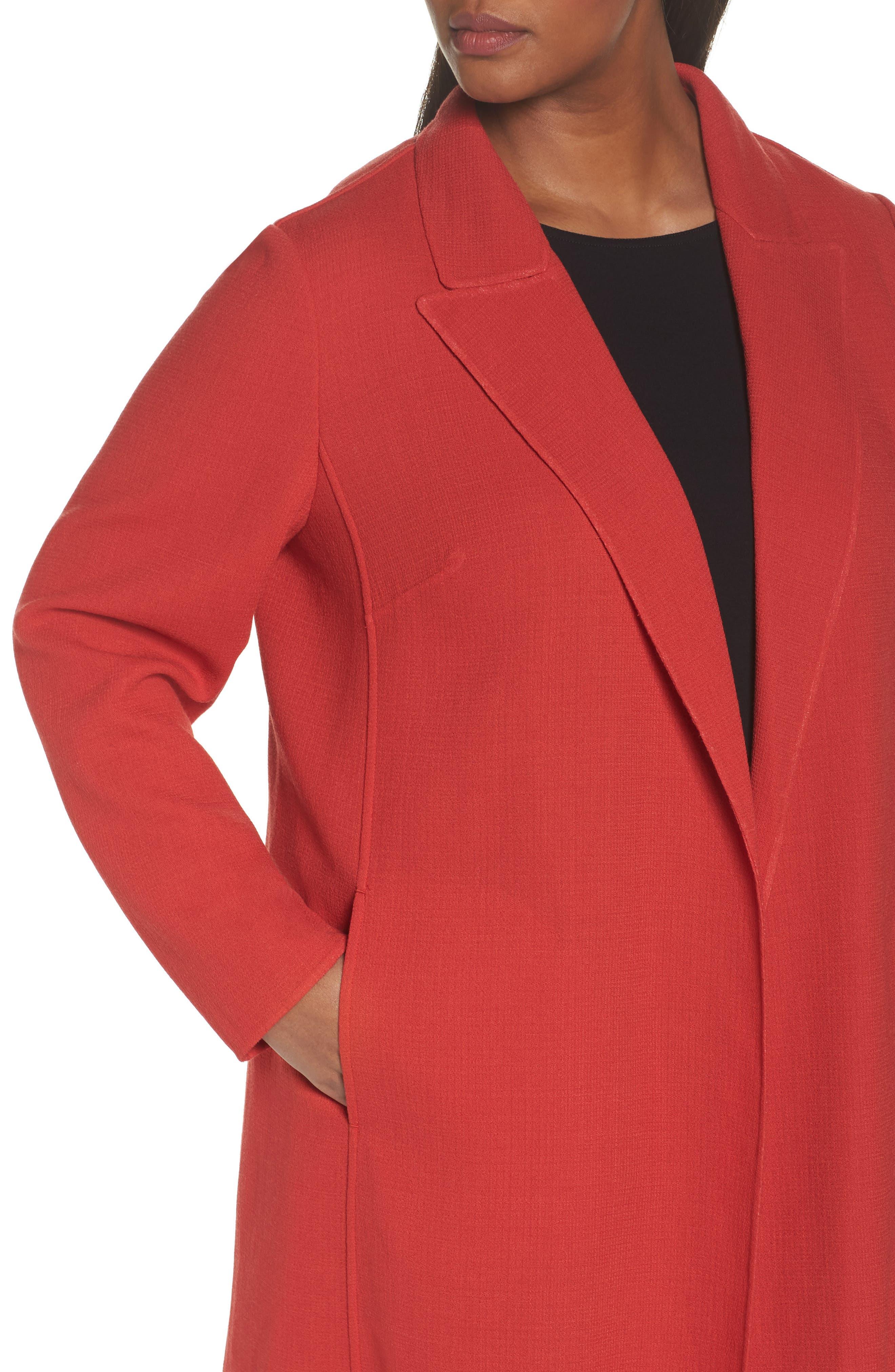 Alternate Image 4  - Lafayette 148 New York Carmelle Nouveau Crepe Jacket (Plus Size)