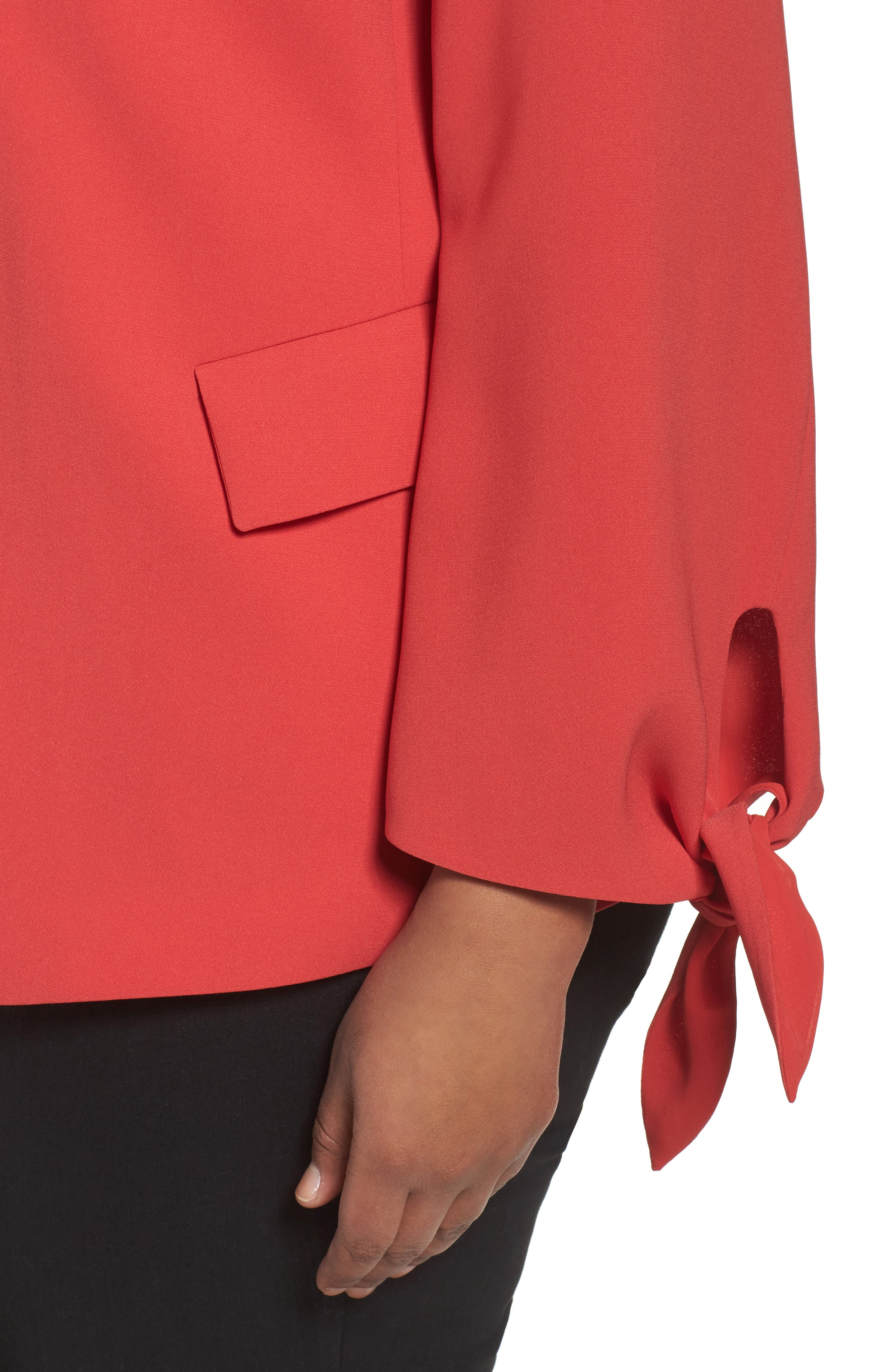 Bria Finesse Crepe Jacket,                             Alternate thumbnail 4, color,                             Salsa